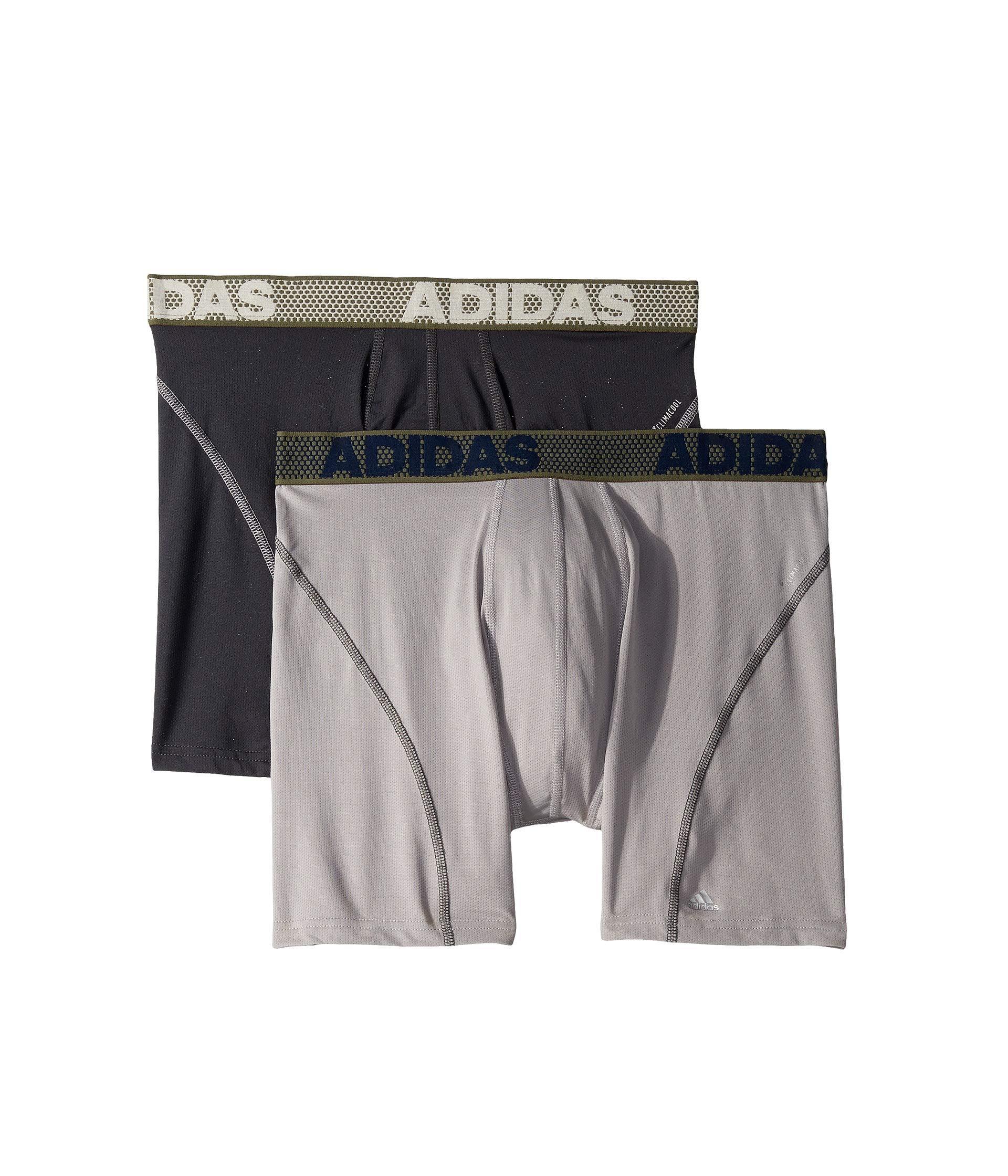 Sport Performance Climacool 2-pack Boxer Brief (collegiate Navy/semi Solar Slime Grey/collegiate Navy) Men's Underwear