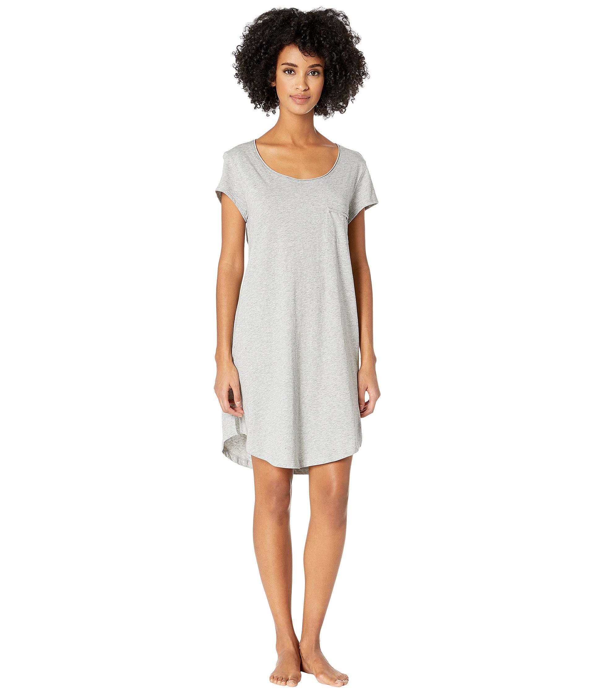 47d4a7b7f6d5a Lyst - Skin 35 Sleep Shirt In Length (heather Grey) Women s Pajama ...