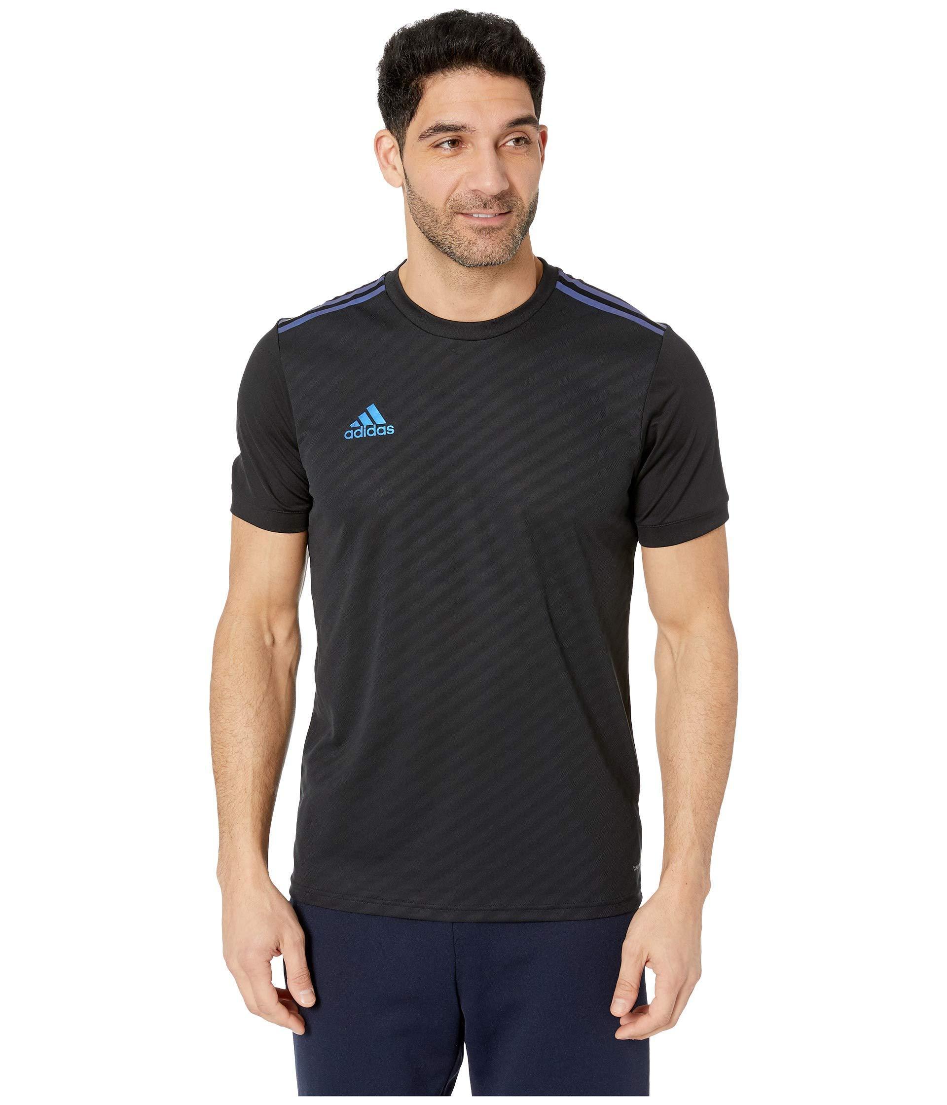adidas Synthetic Afs Tiro Jersey (black/blue Pearl Essence) Men's ...