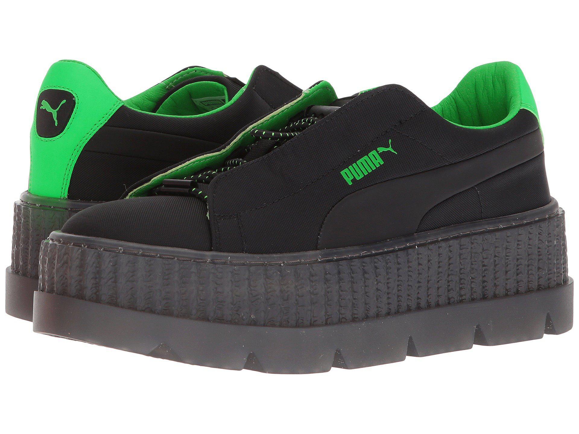 e0d36e93851e18 Lyst - Puma X Fenty By Rihanna Cleated Creeper Surf ( Black green ...