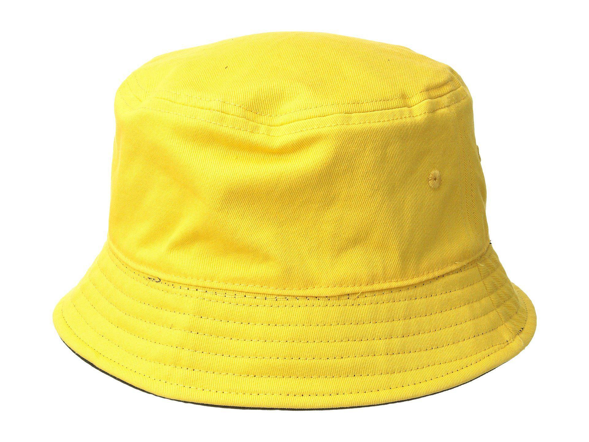 003e43345 Men's Yellow Ripped Otw(r) Bucket Hat (lemon Chrome/black Reversible)  Bucket Caps
