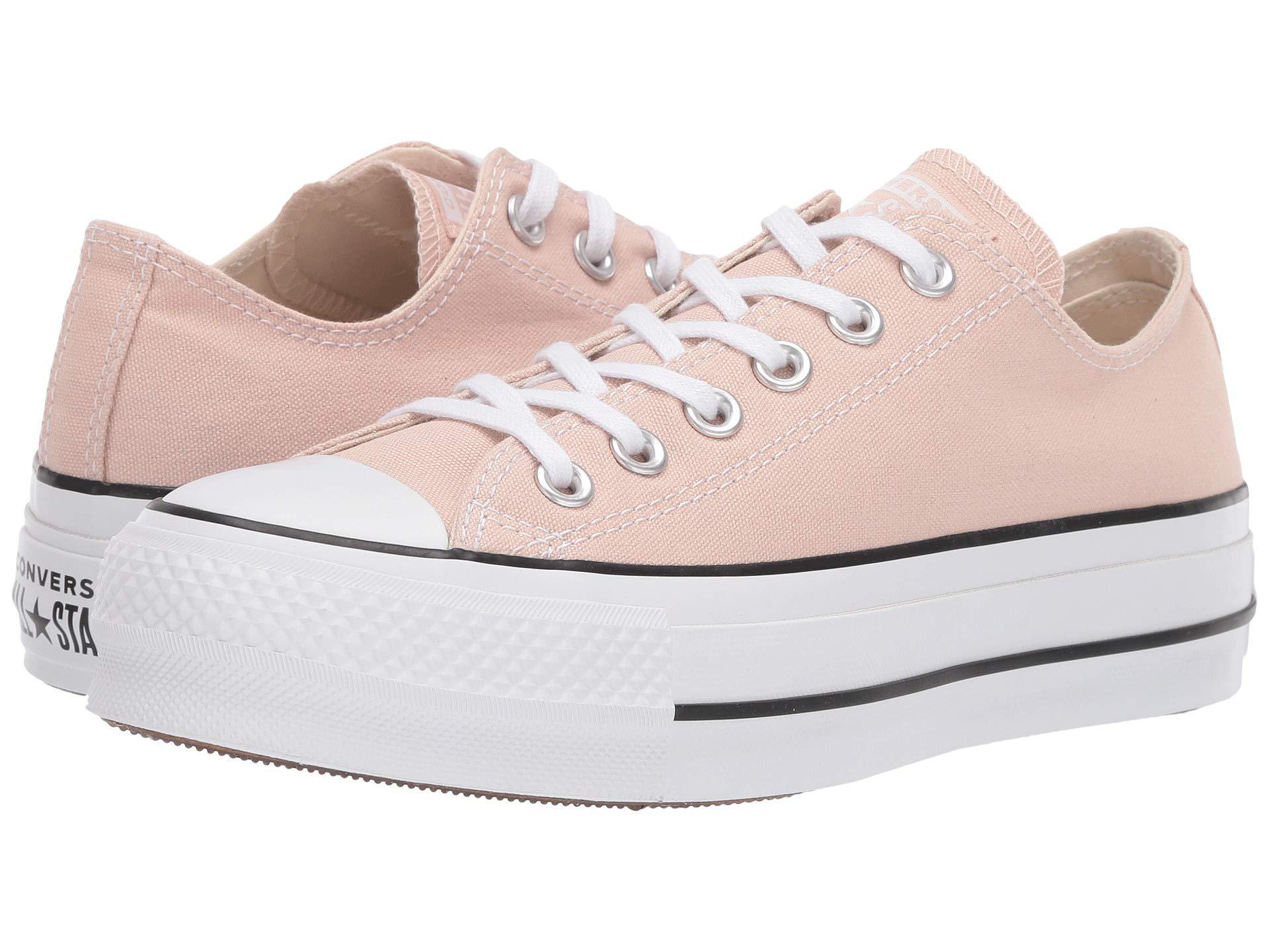 peach colored converse