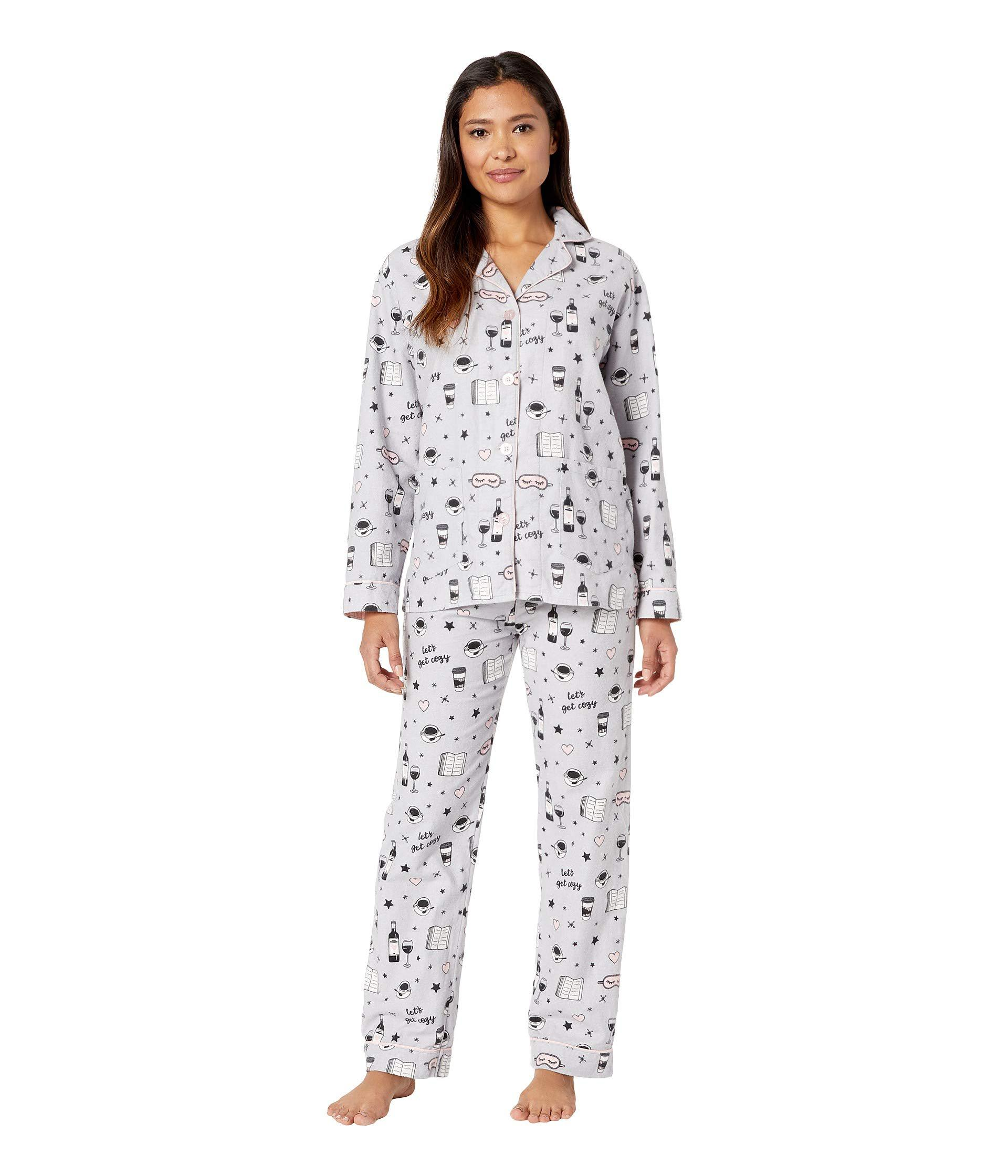 3bd3e5f61b8 Lyst - Pj Salvage Let s Get Cozy Pj Set (light Grey) Women s Pajama ...