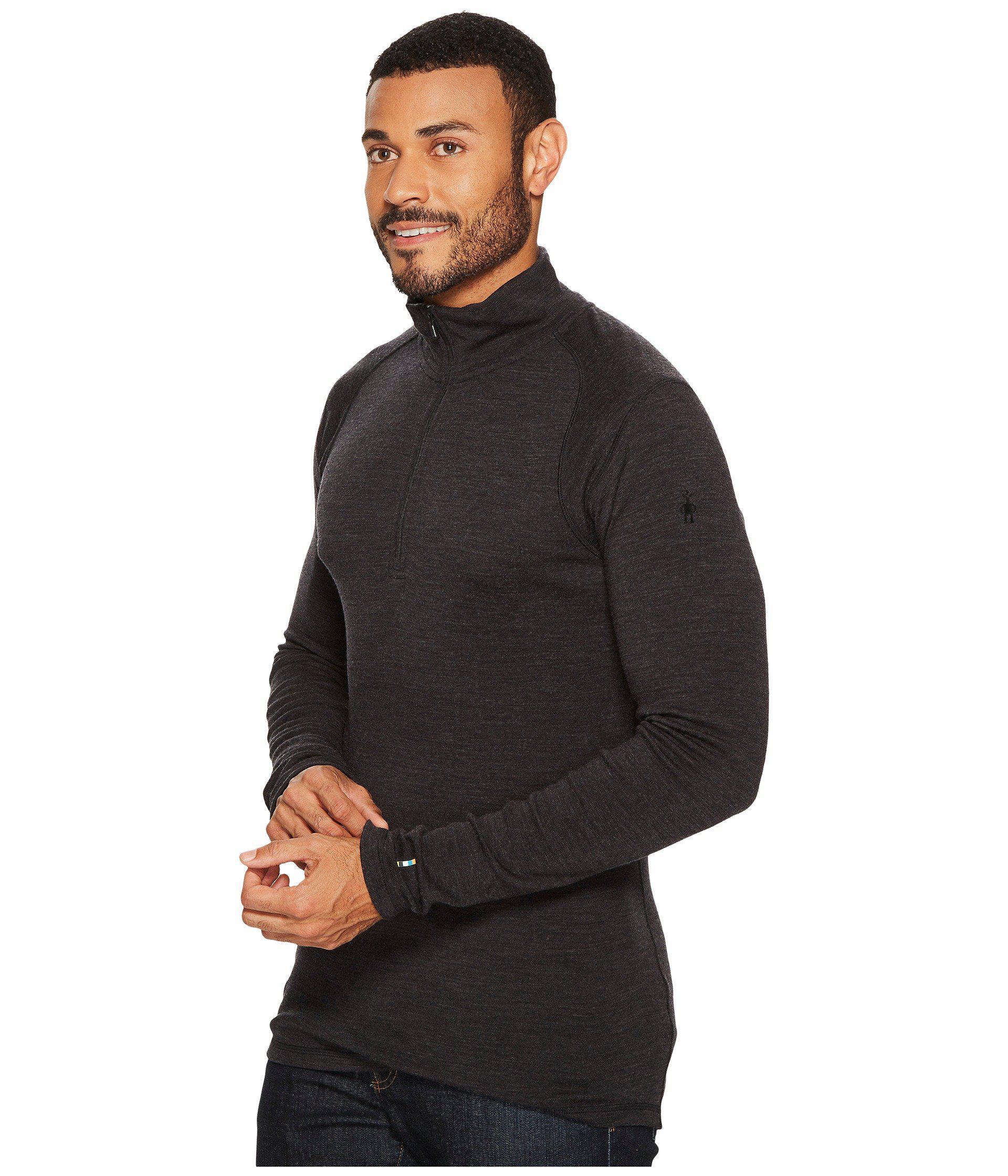 6687489e194e Lyst - Smartwool Nts Mid 250 Zip T Top (charcoal) Men s Long Sleeve  Pullover for Men