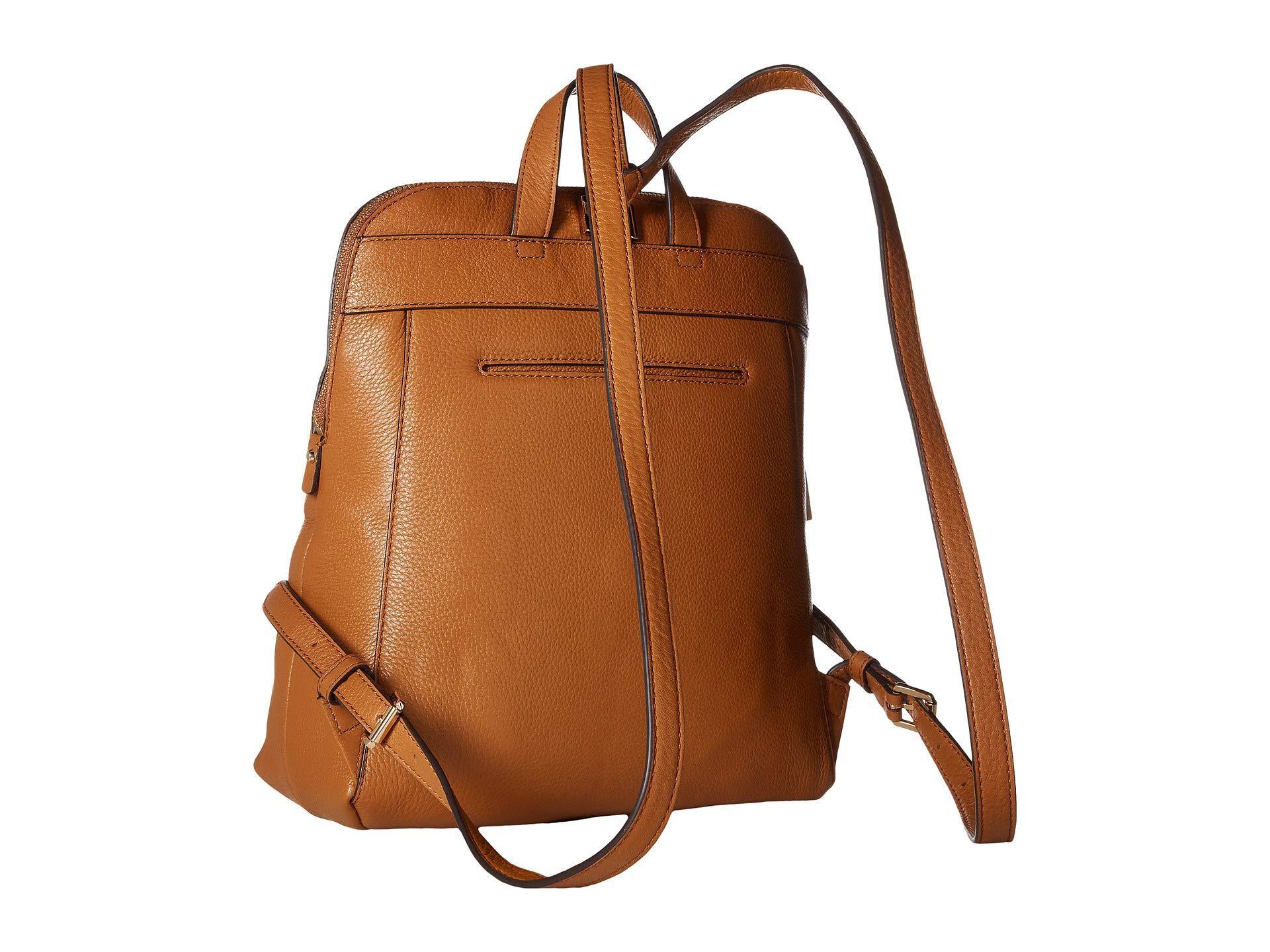 66dab3240c8ac MICHAEL Michael Kors - Brown Rhea Zip Medium Slim Backpack (acorn) Backpack  Bags -. View fullscreen