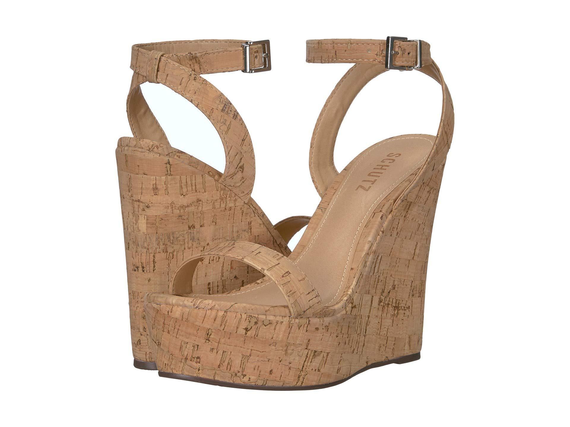 ec3407d8a56 Lyst - Schutz Eduarda (black Verniz cortica) Women s Sandals in Natural