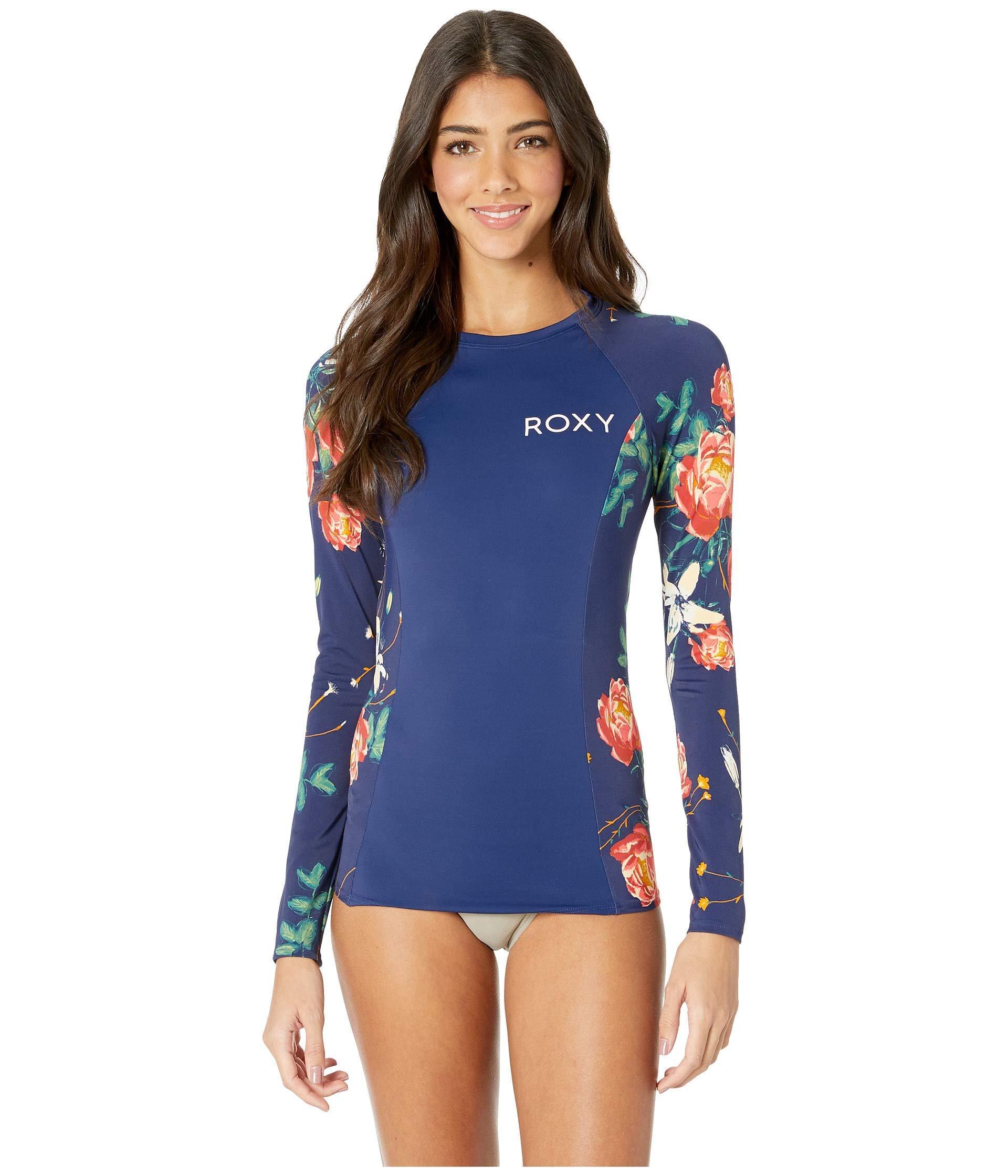 2e3a0853ce Roxy - Blue Long Sleeve Fashion Rashguard (cloud Pink Garden Lily) Women s  Swimwear -. View fullscreen