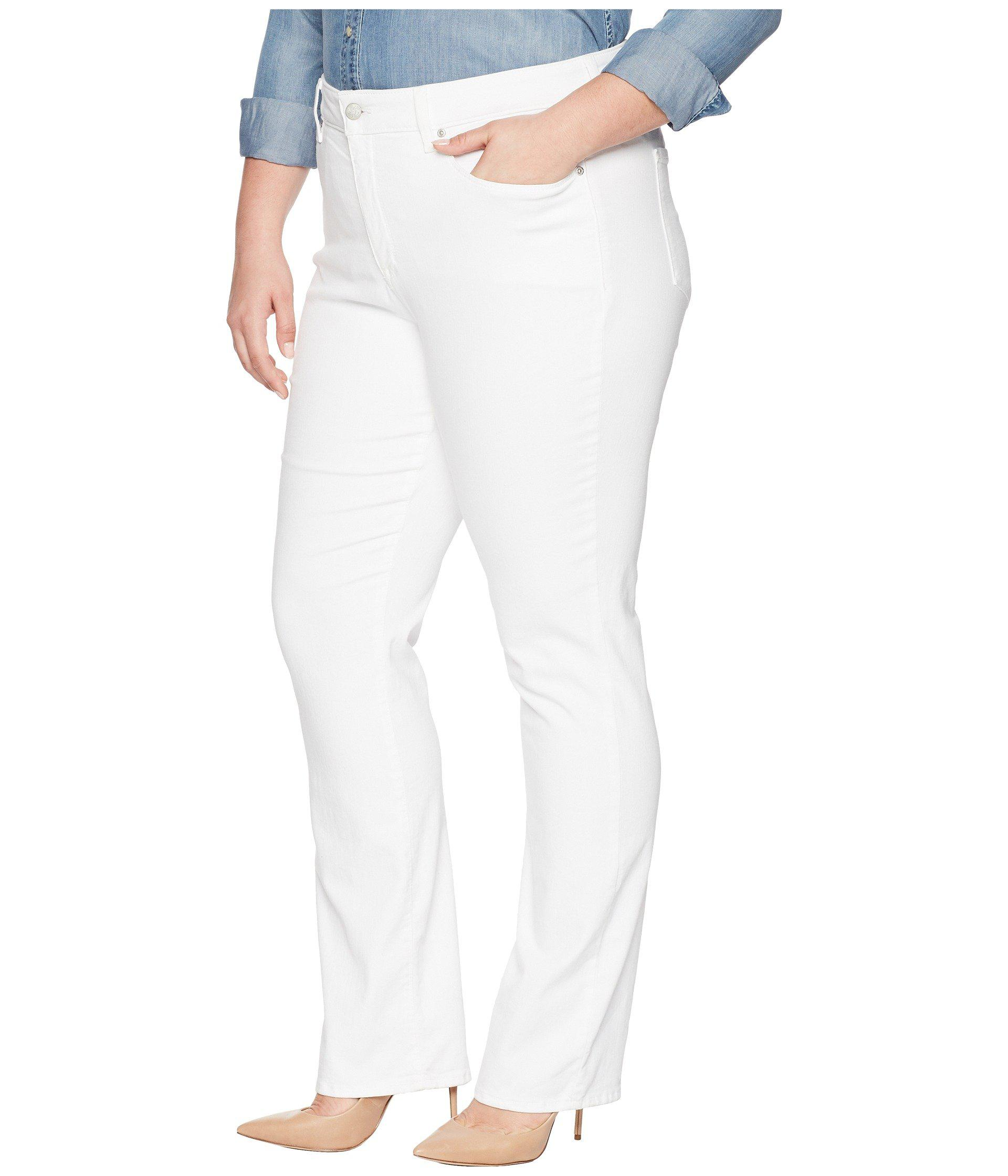 b0394549778 Lyst - Nydj Plus Size Marilyn Straight In Optic White (optic White) Women s  Jeans in White