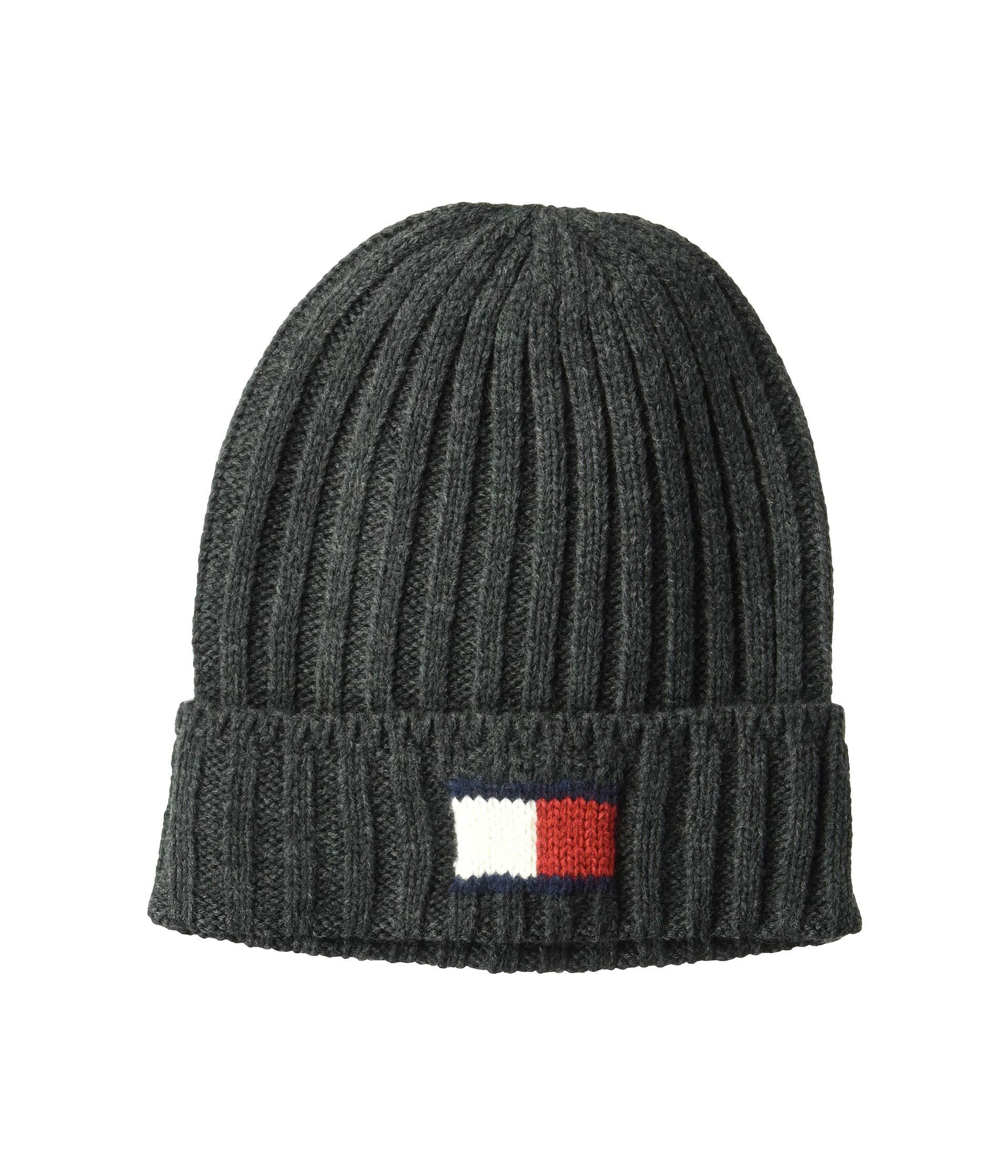 1601c24a92b23 Lyst - Tommy Hilfiger Knit Logo Cuff Hat (charcoal) Caps in Gray for Men