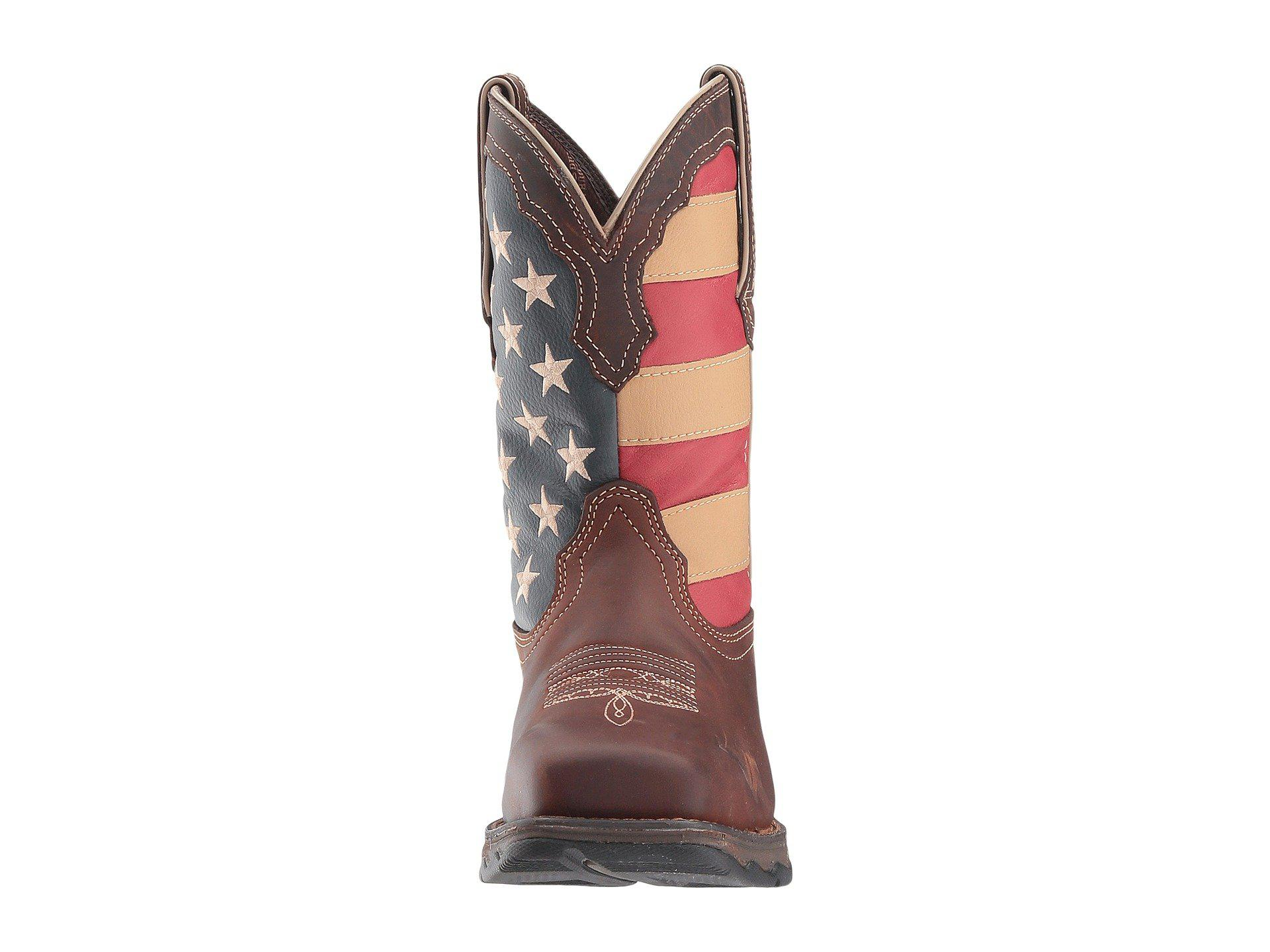 468a5fdecb4 Lyst - Durango Lady Rebel Flag Steel Toe (brown) Cowboy Boots in ...