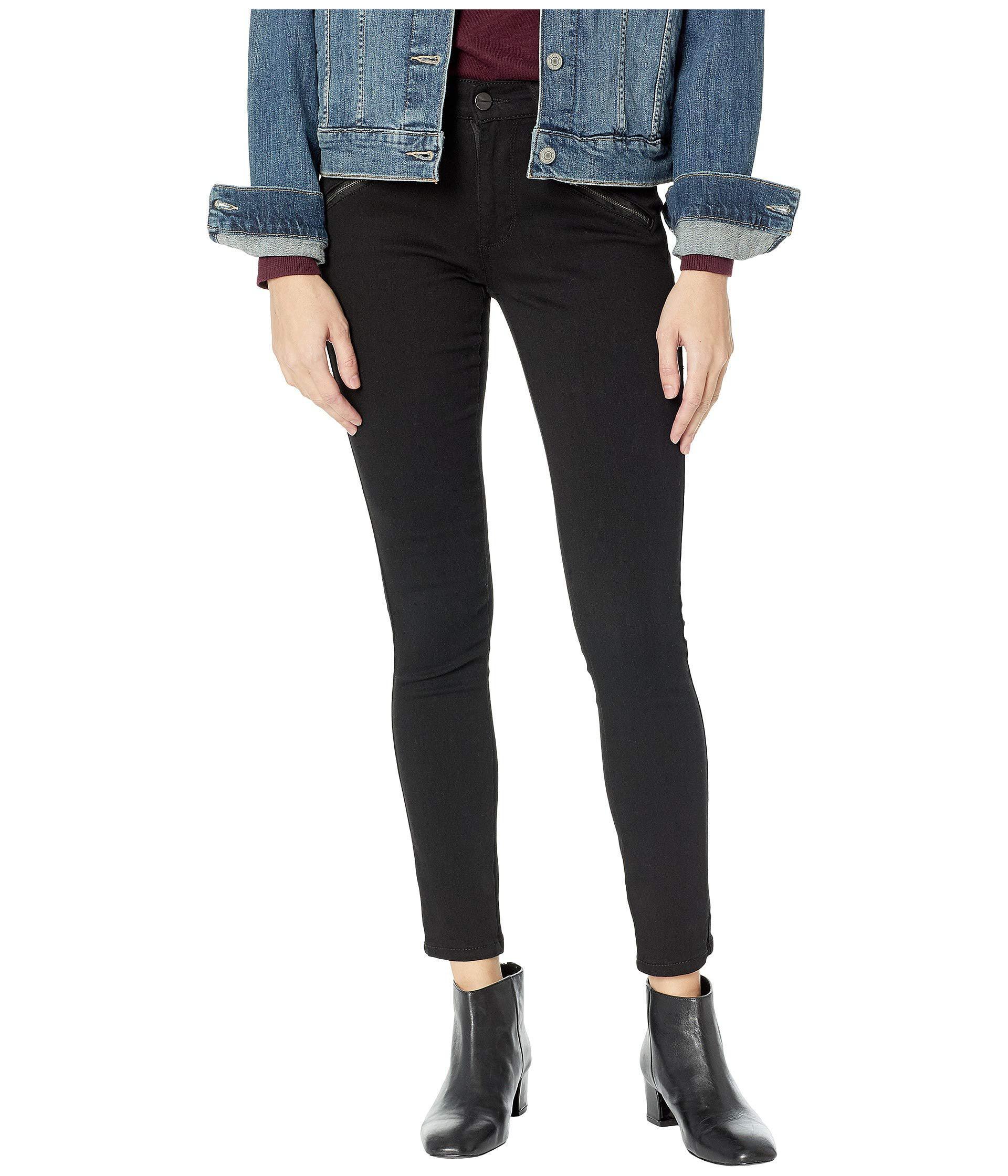 c946757b8ff Lyst - Kenneth Cole Jess Moto Skinny In Black (black) Women s Jeans ...