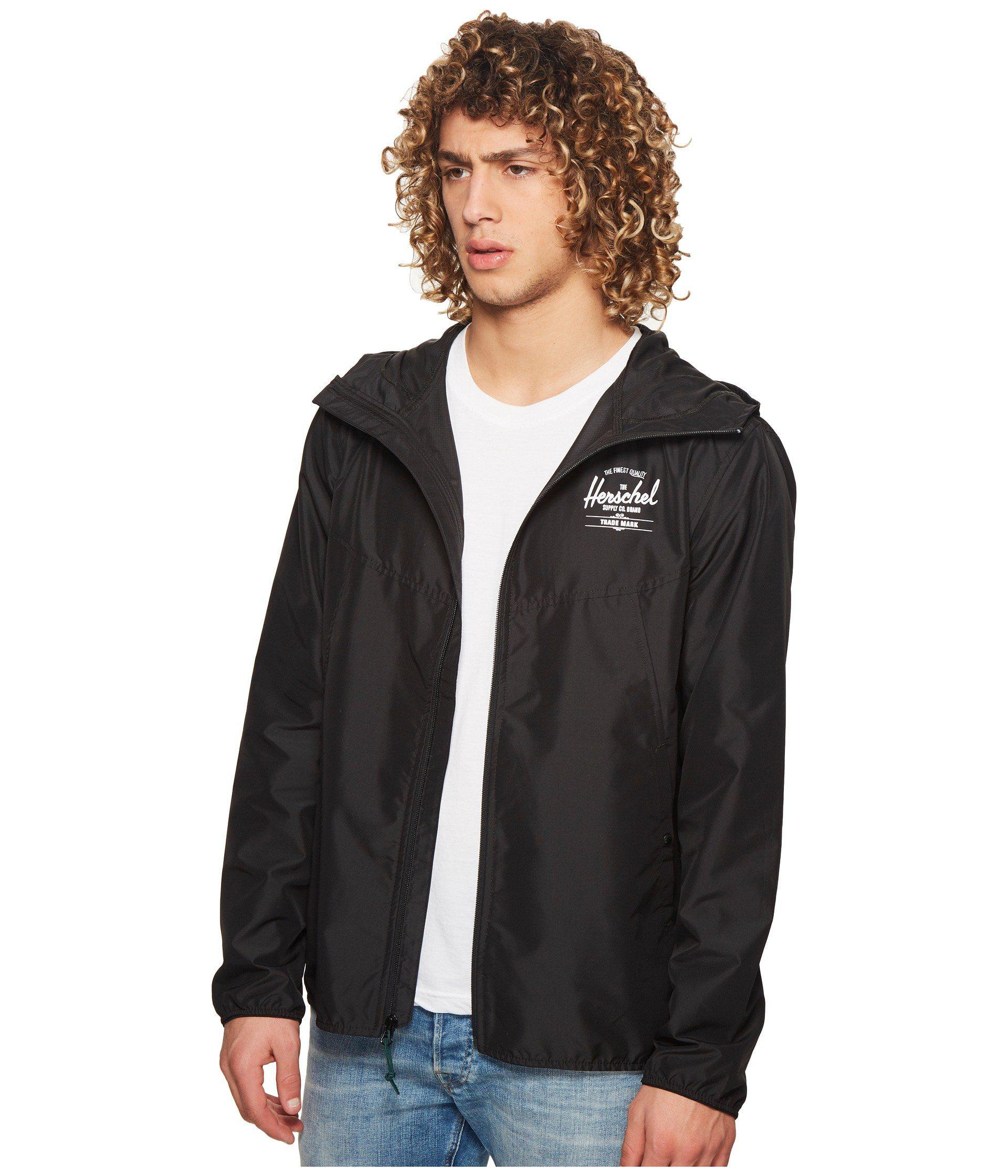 952d0d2c7bb Lyst - Herschel Supply Co. Wind (black white Classic Logo) Men s Coat in  Black for Men