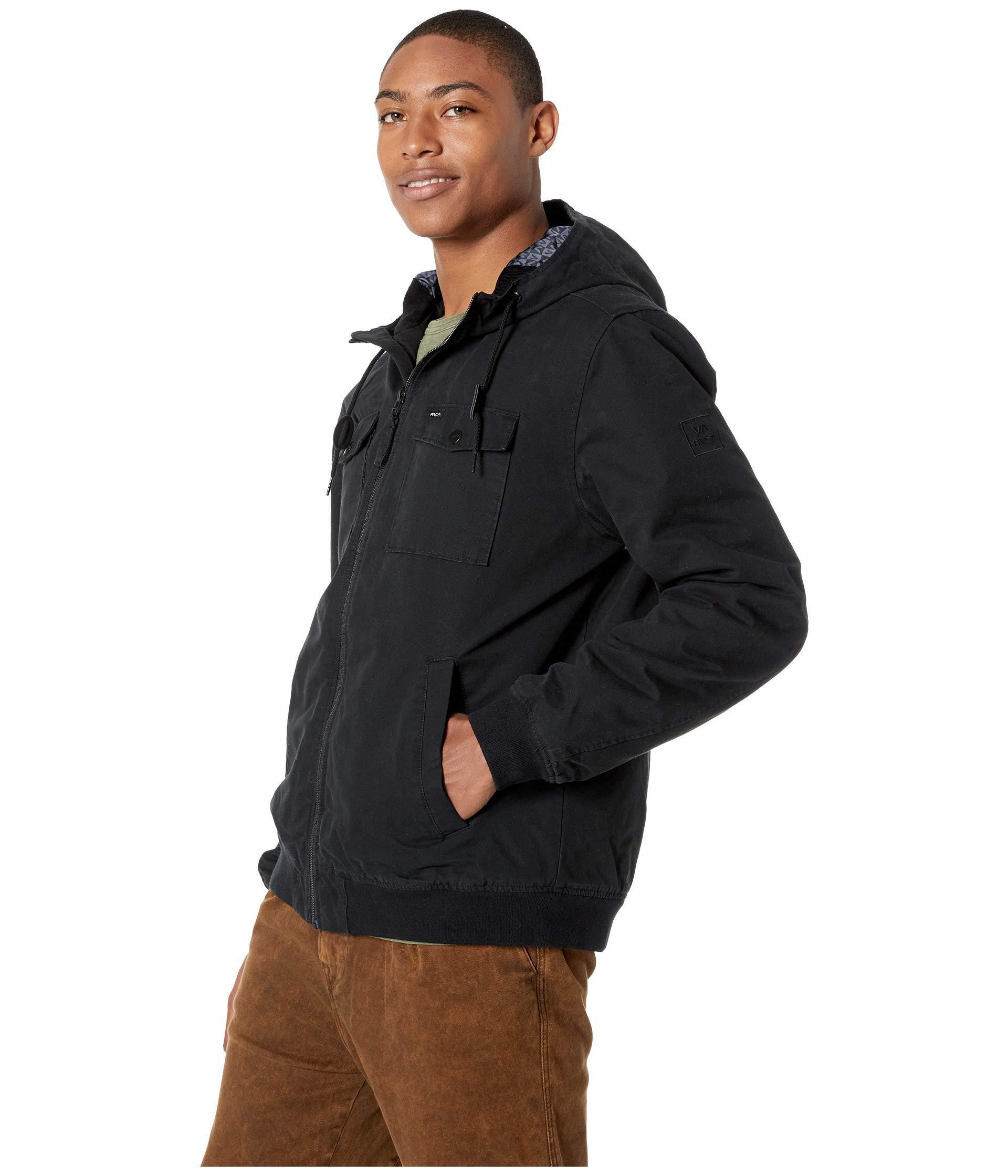 ad3f9fedf RVCA Hooded Bomber Ii ( Black) Men's Coat for men