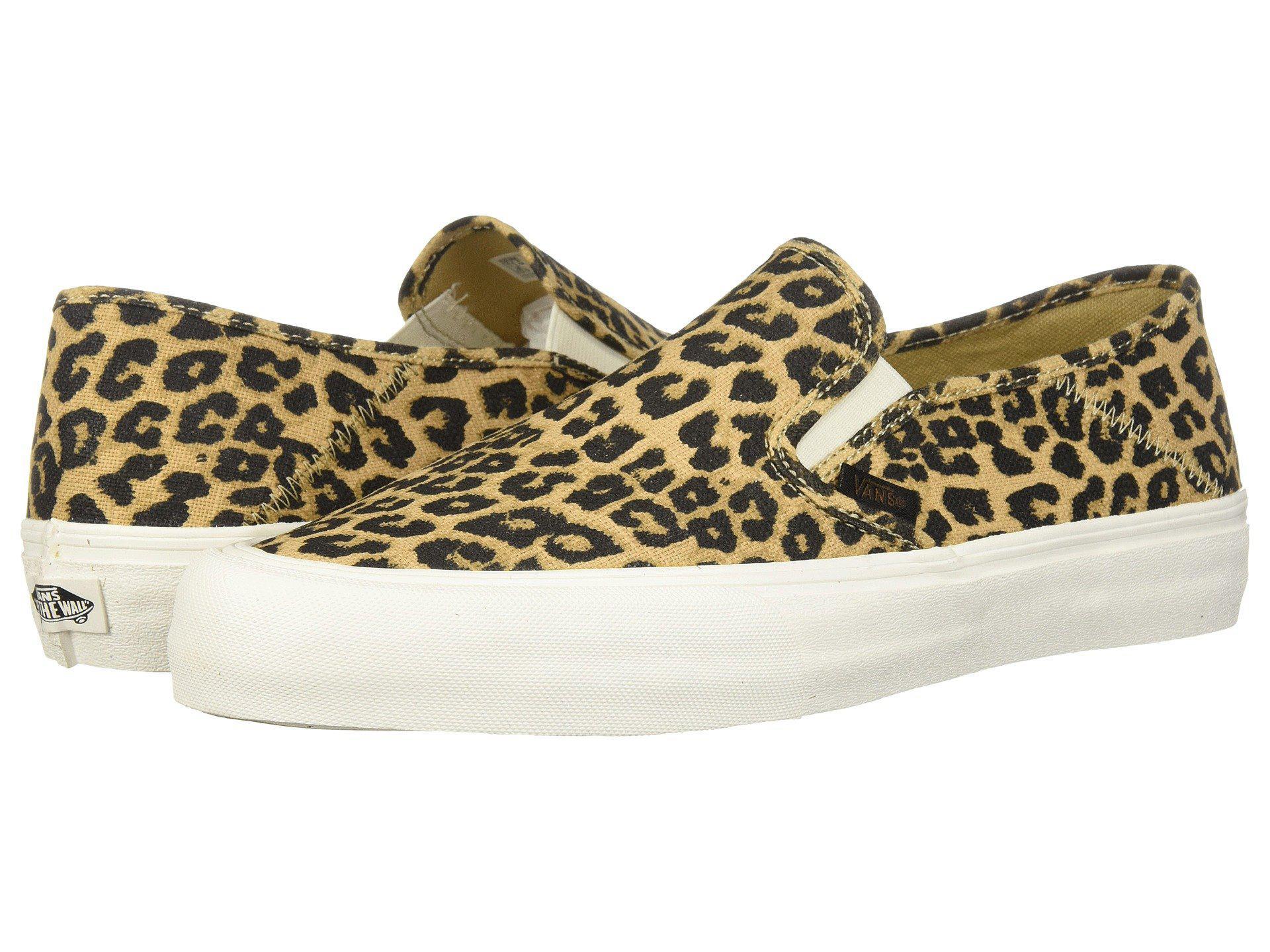 f5fe1f7172a391 Lyst - Vans Slip-on Sf ((hemp) Leopard  18) Skate Shoes