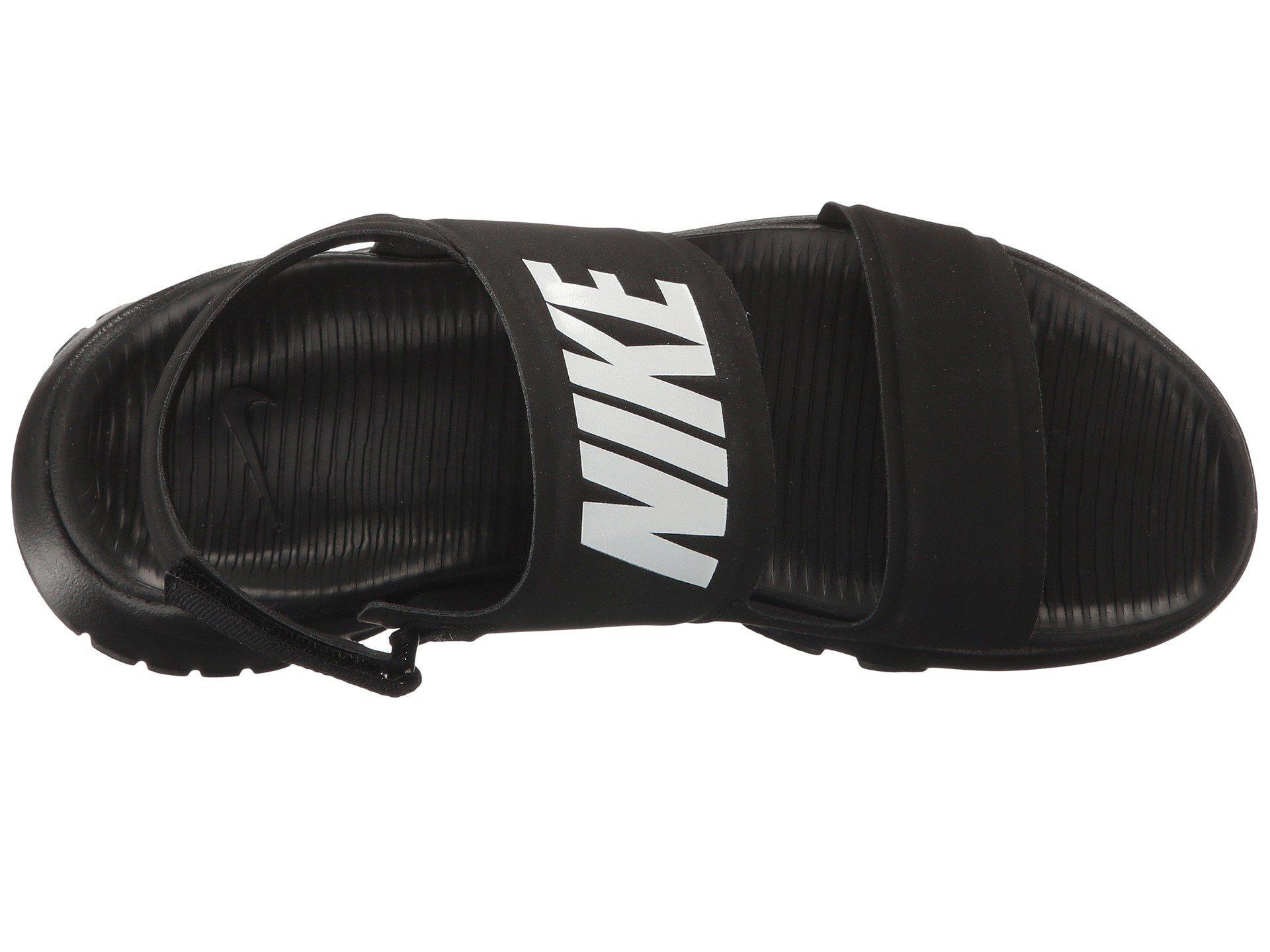 90239ba6a808fc Lyst - Nike Tanjun Sandal (black black white) Women s Shoes in Black