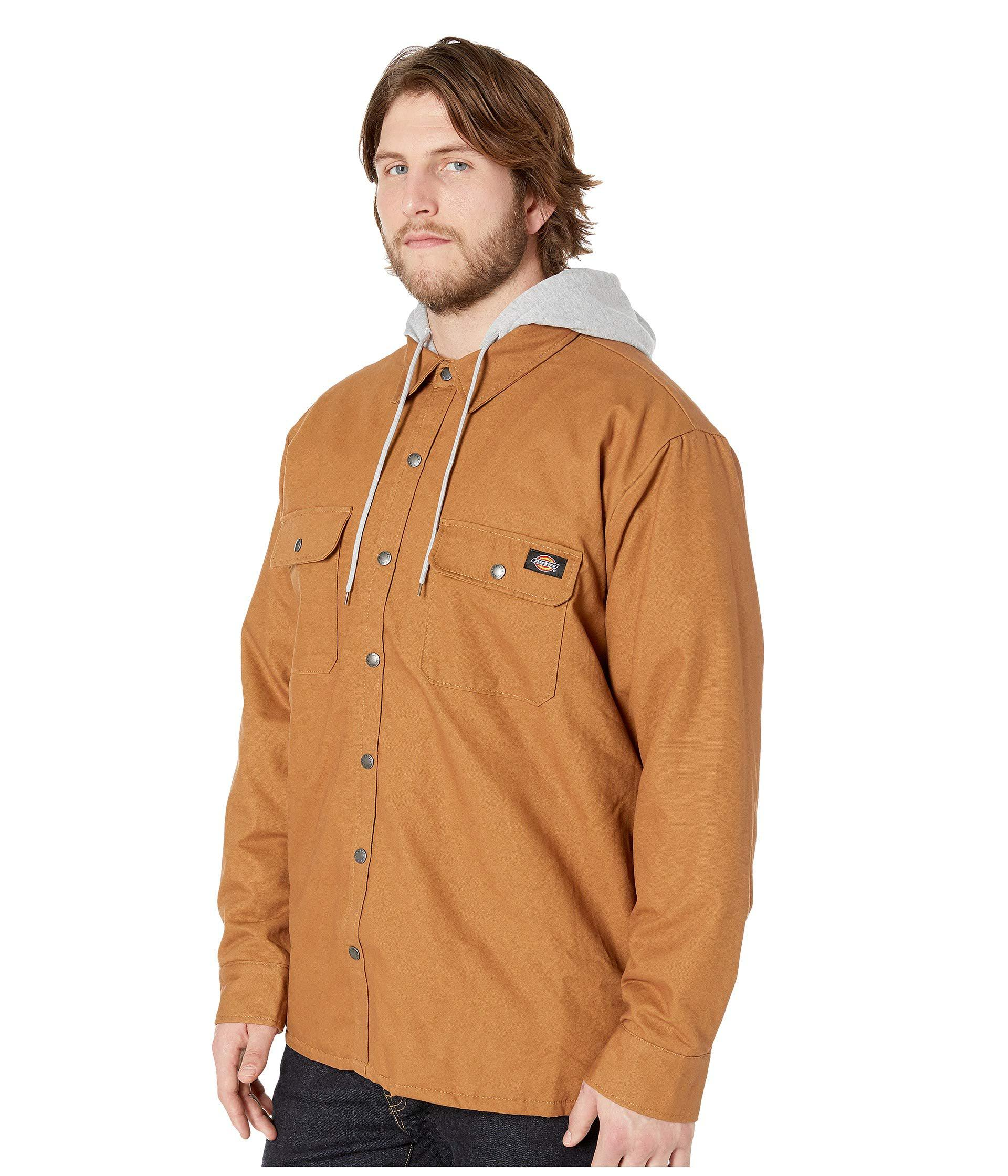 8be34e0f3a Lyst - Dickies Big Tall Relaxed Fit Icon Hooded Duck Quilted Shirt Jacket  (brown Duck) Men s Coat in Brown for Men