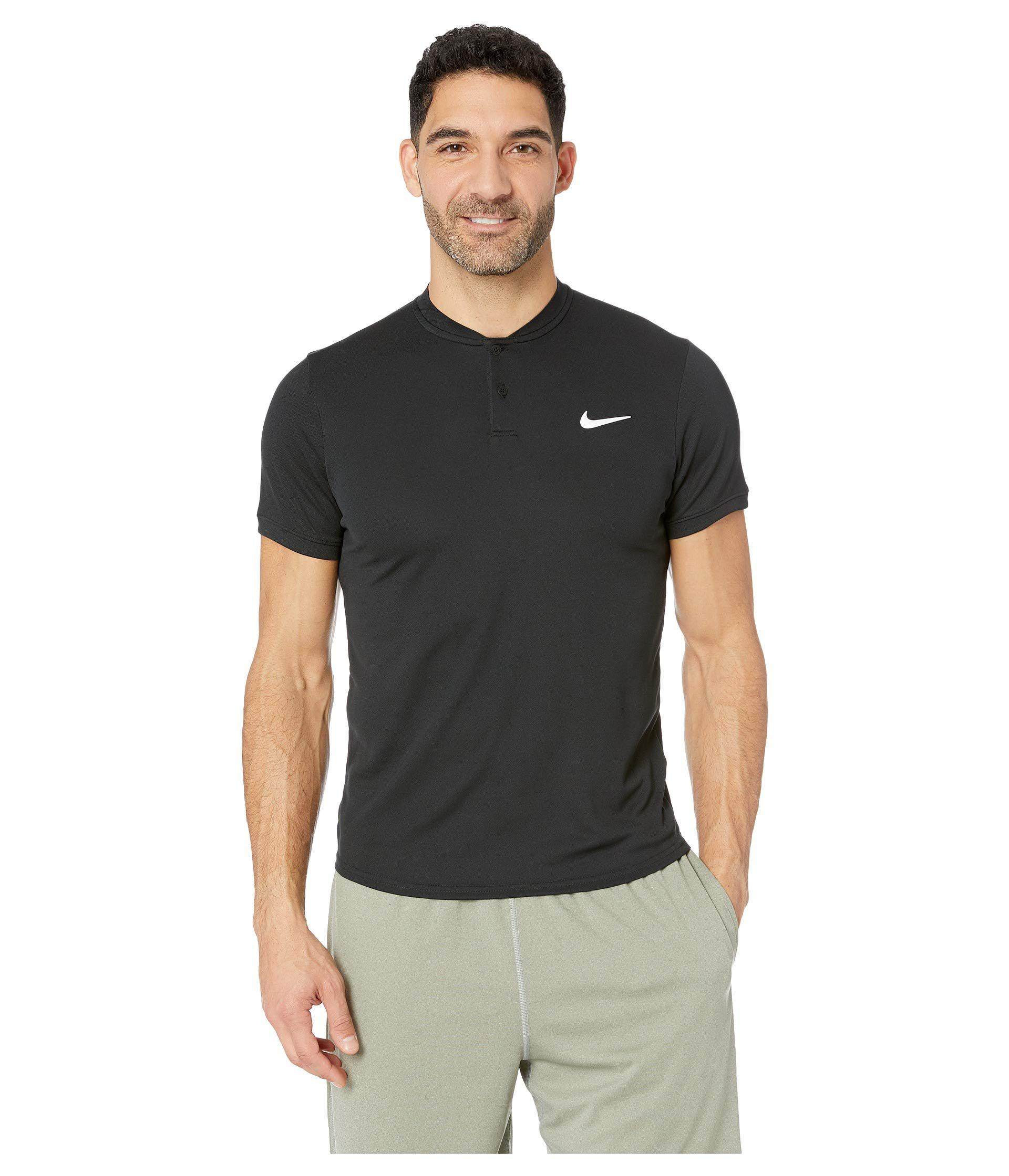 15a991d09 Lyst - Nike Court Dry Polo Blade (black/white) Men's Clothing in ...