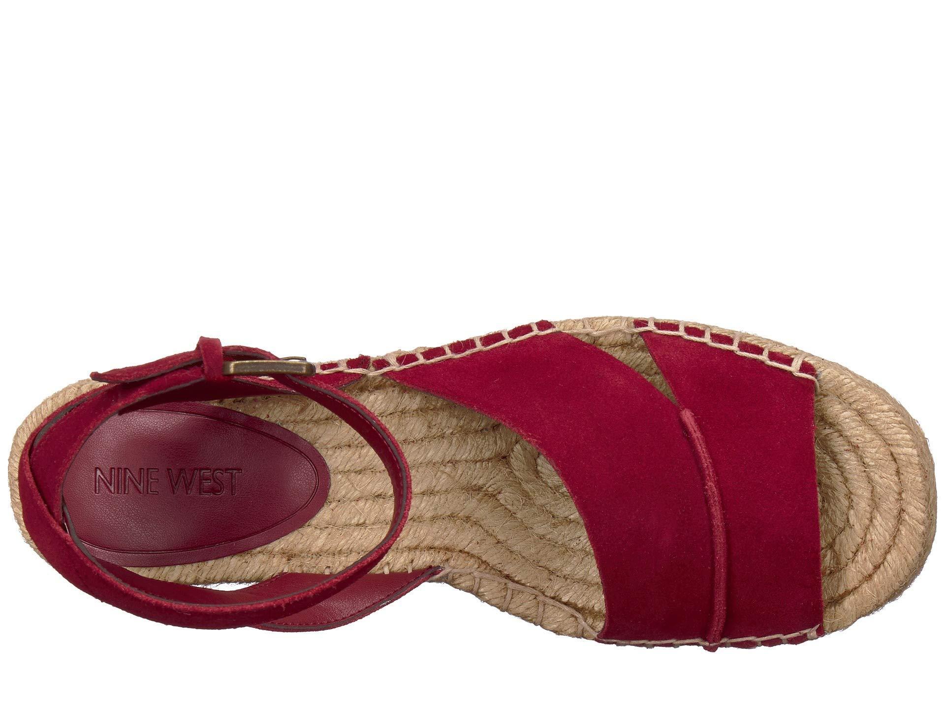 7bf6a321bf5f Nine West - Red Edwisha (black) Women s Wedge Shoes - Lyst. View fullscreen