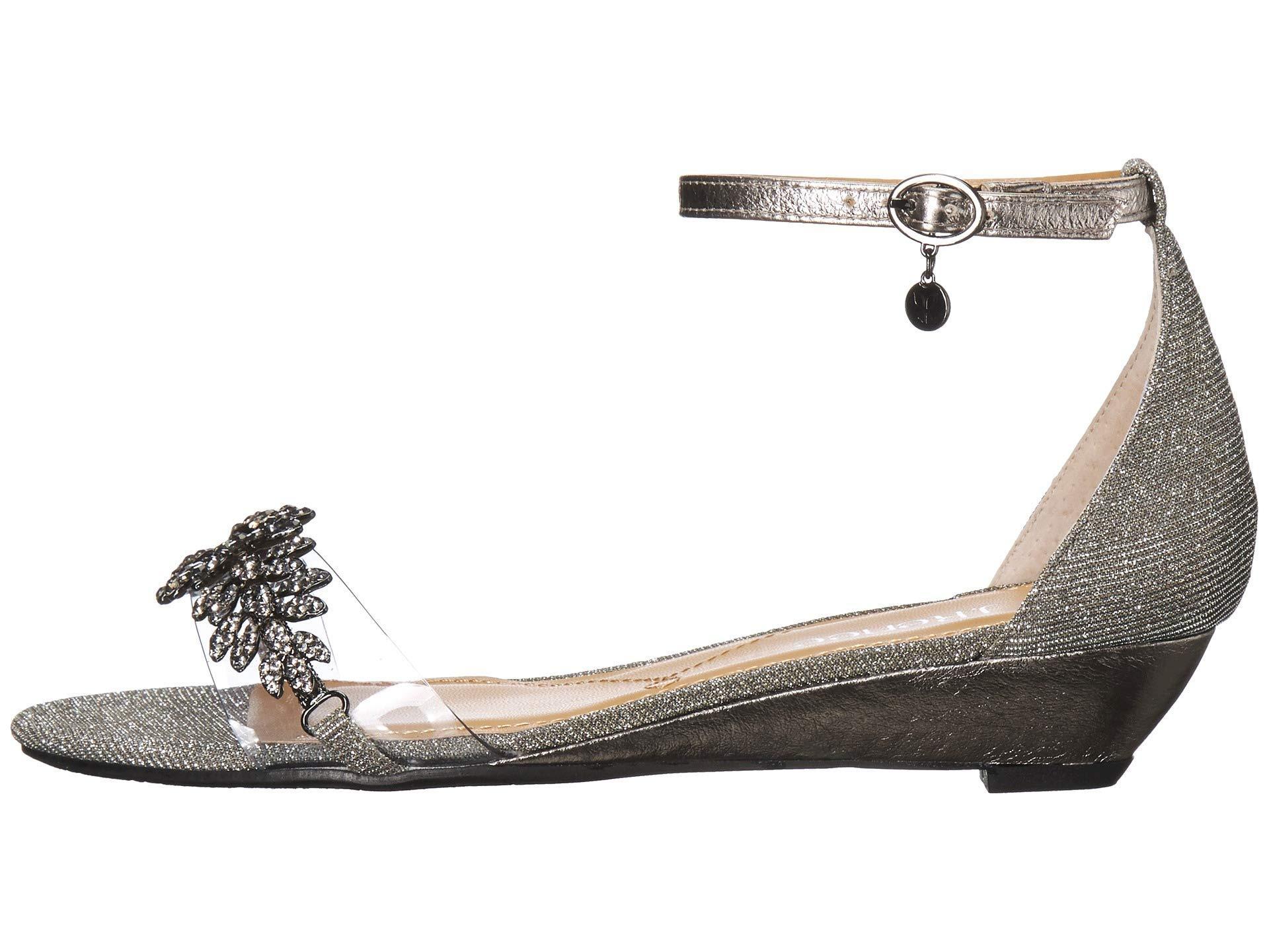 8368e5cae56 Lyst - J. Reneé Eviana (black Satin) Women s Wedge Shoes
