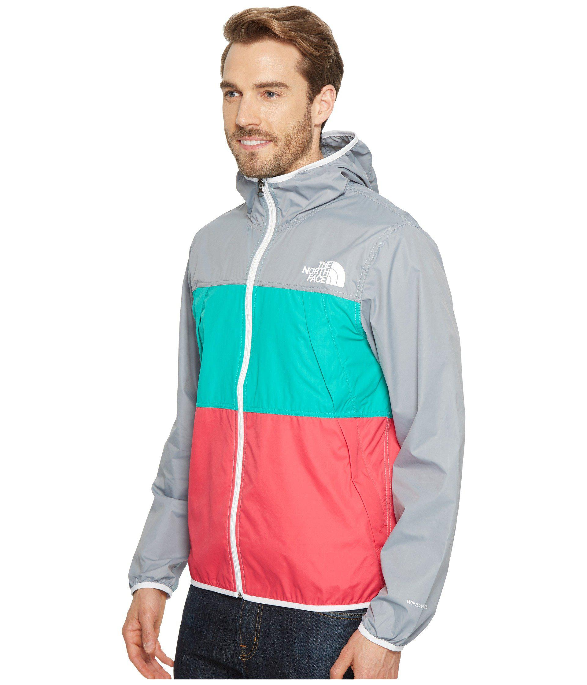 d367189f3 The North Face Green Telegraph Wind Jacket (urban Navy/raspberry Red/tnf  Yellow) Men's Coat for men