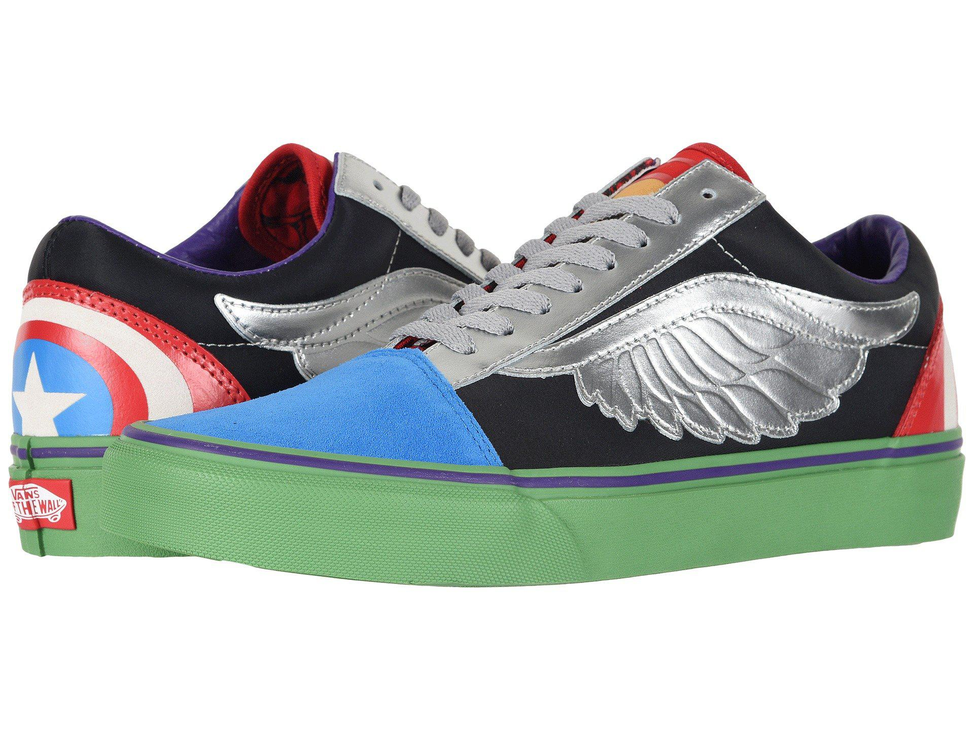 Vans Vans Old Skool X Marvel Collab ((Marvel) AvengersMulti) Lace up casual Shoes from Zappos | ShapeShop