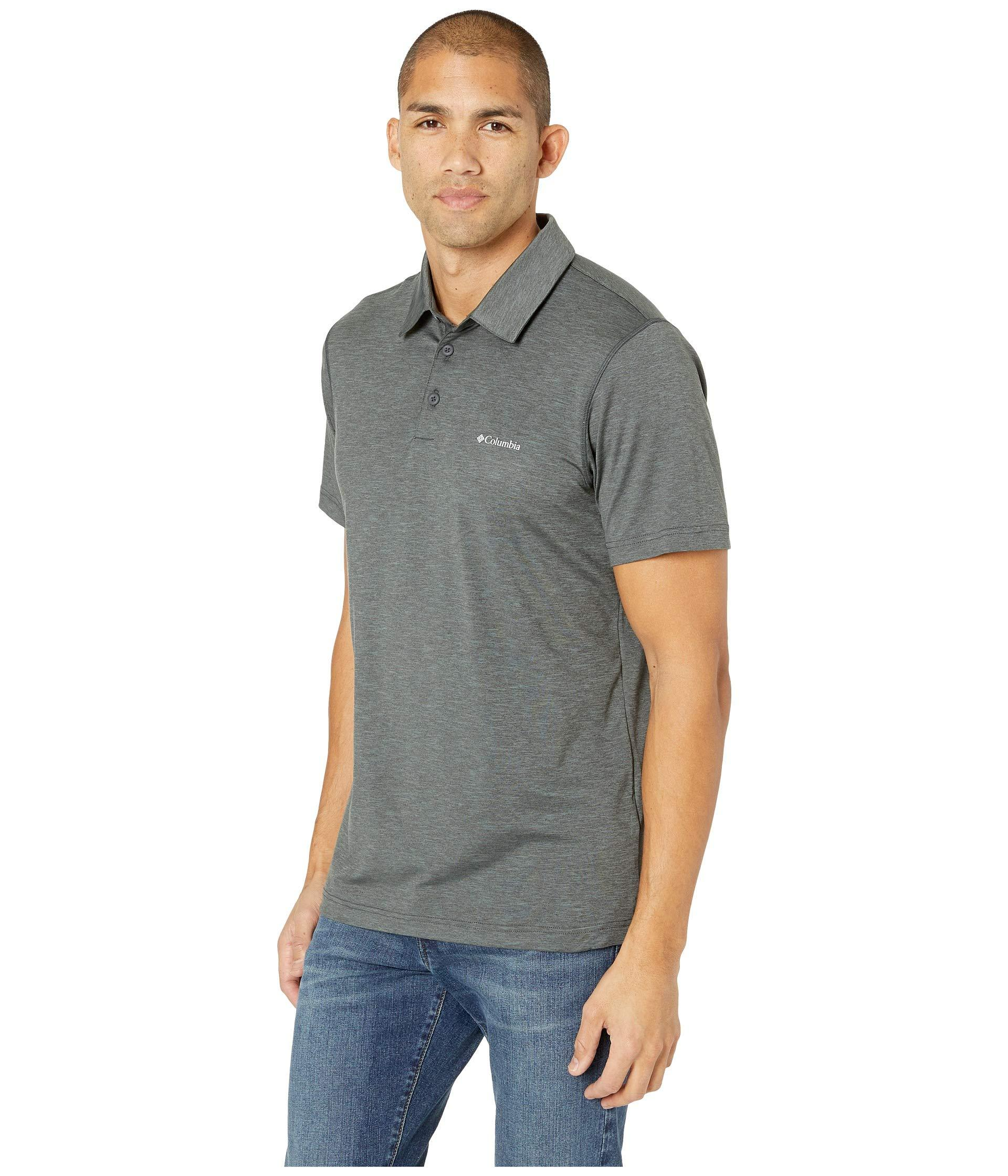 640cd69b68c Lyst - Columbia Tech Trail Polo (cool Grey) Men's Short Sleeve Pullover in  Gray for Men