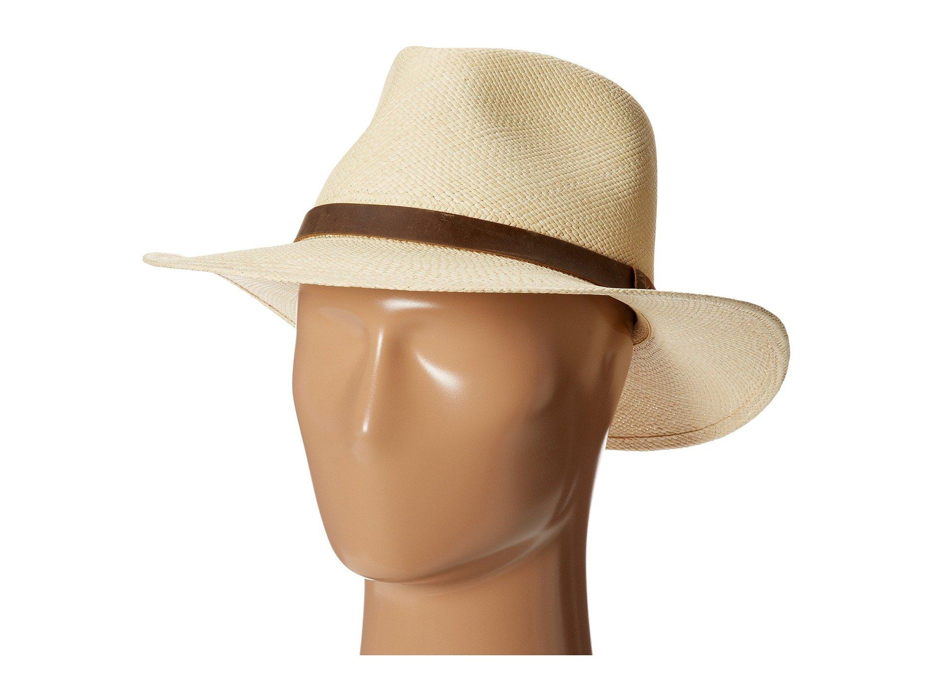 bdbfd9be3 Men's Natural Panama Outback With Leather Trim X