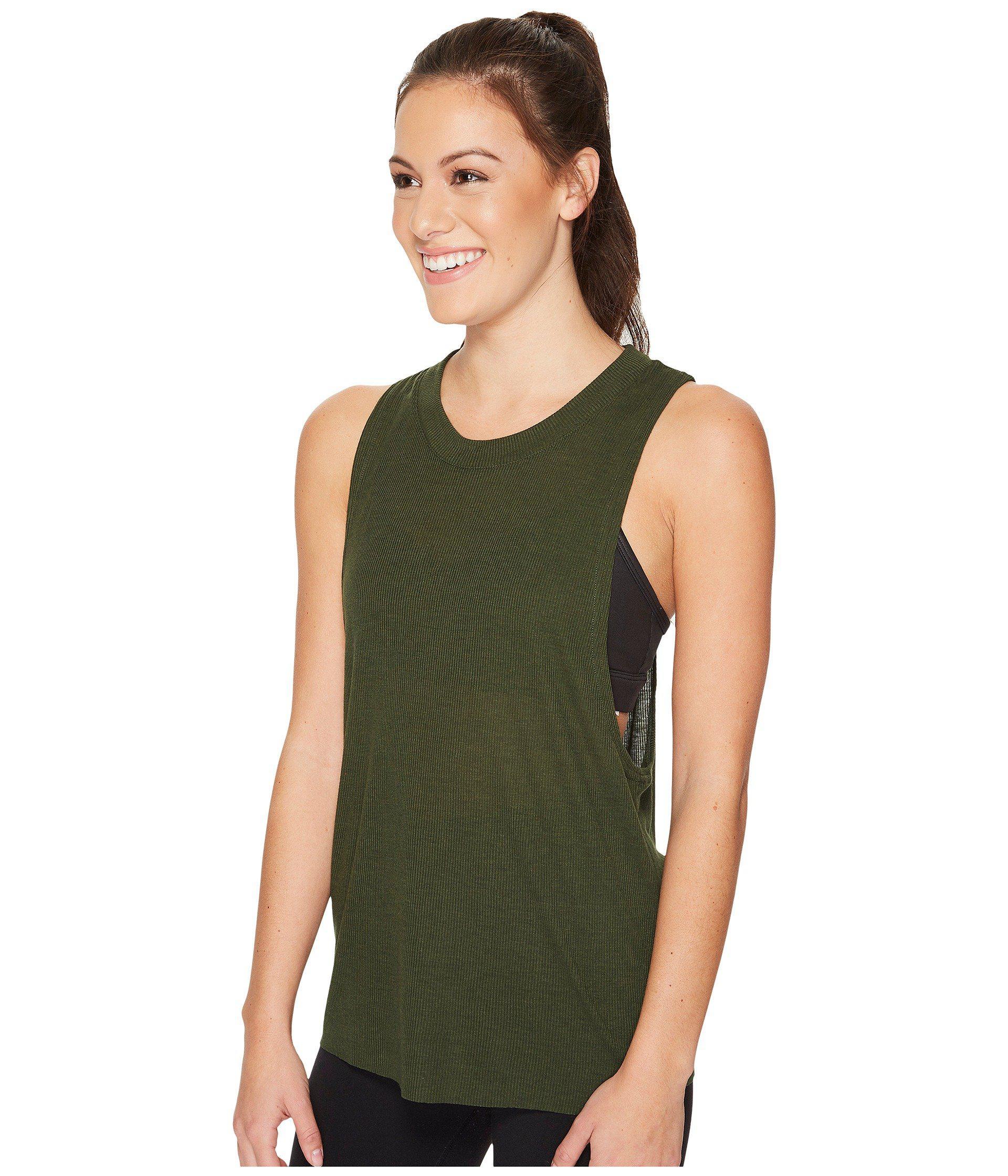 38741a6ab9ace Lyst - Alo Yoga Heat-wave Tank Top (pistachio) Women s Sleeveless in Green