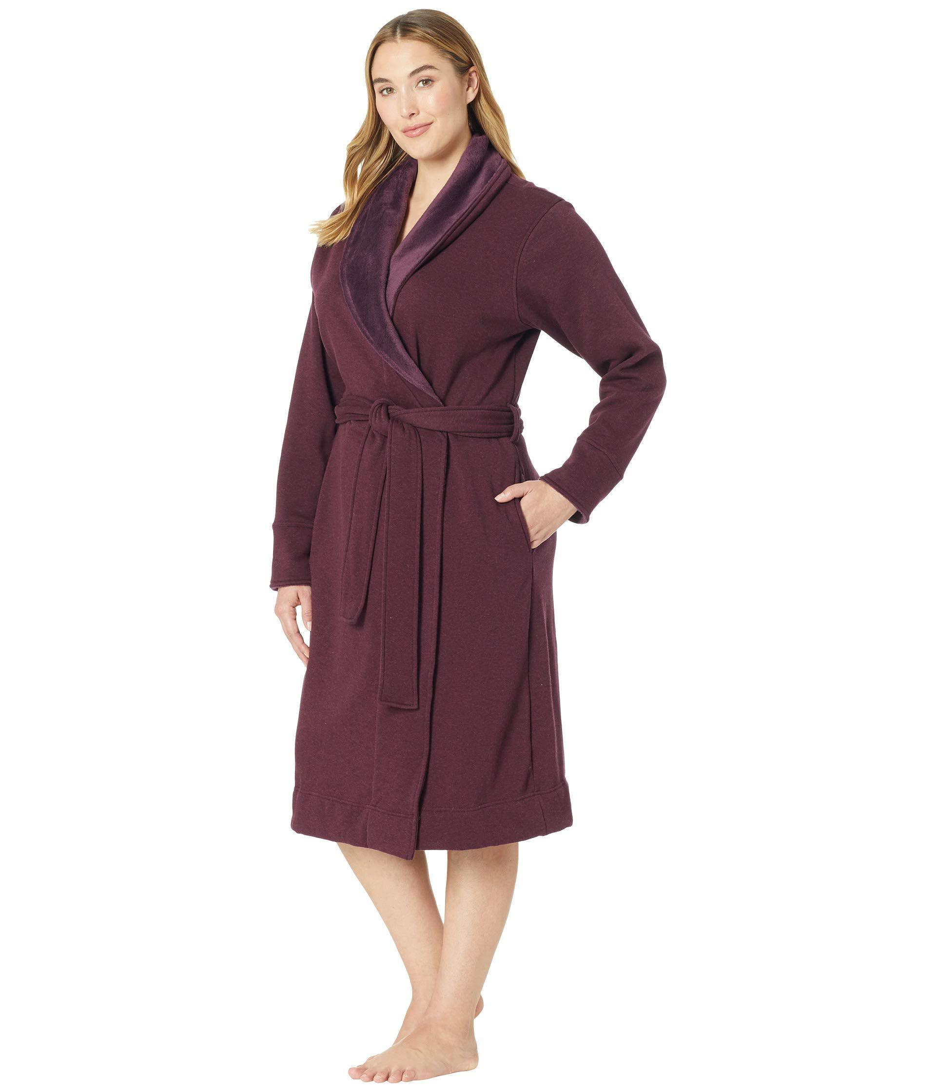 7b705c20a0 Lyst - UGG Plus Size Duffield Ii Robe (black Bear Heather) Women s ...