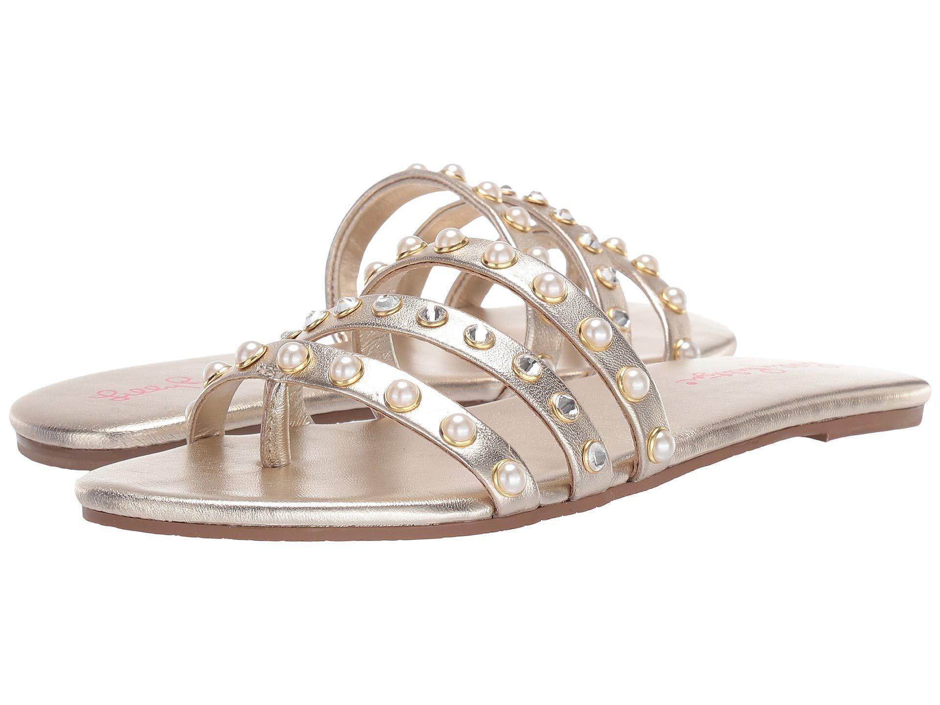 f4d7d8ee9c01c8 Lyst - Lilly Pulitzer Tabbie Sandal (gold Metallic) Women's Sandals ...