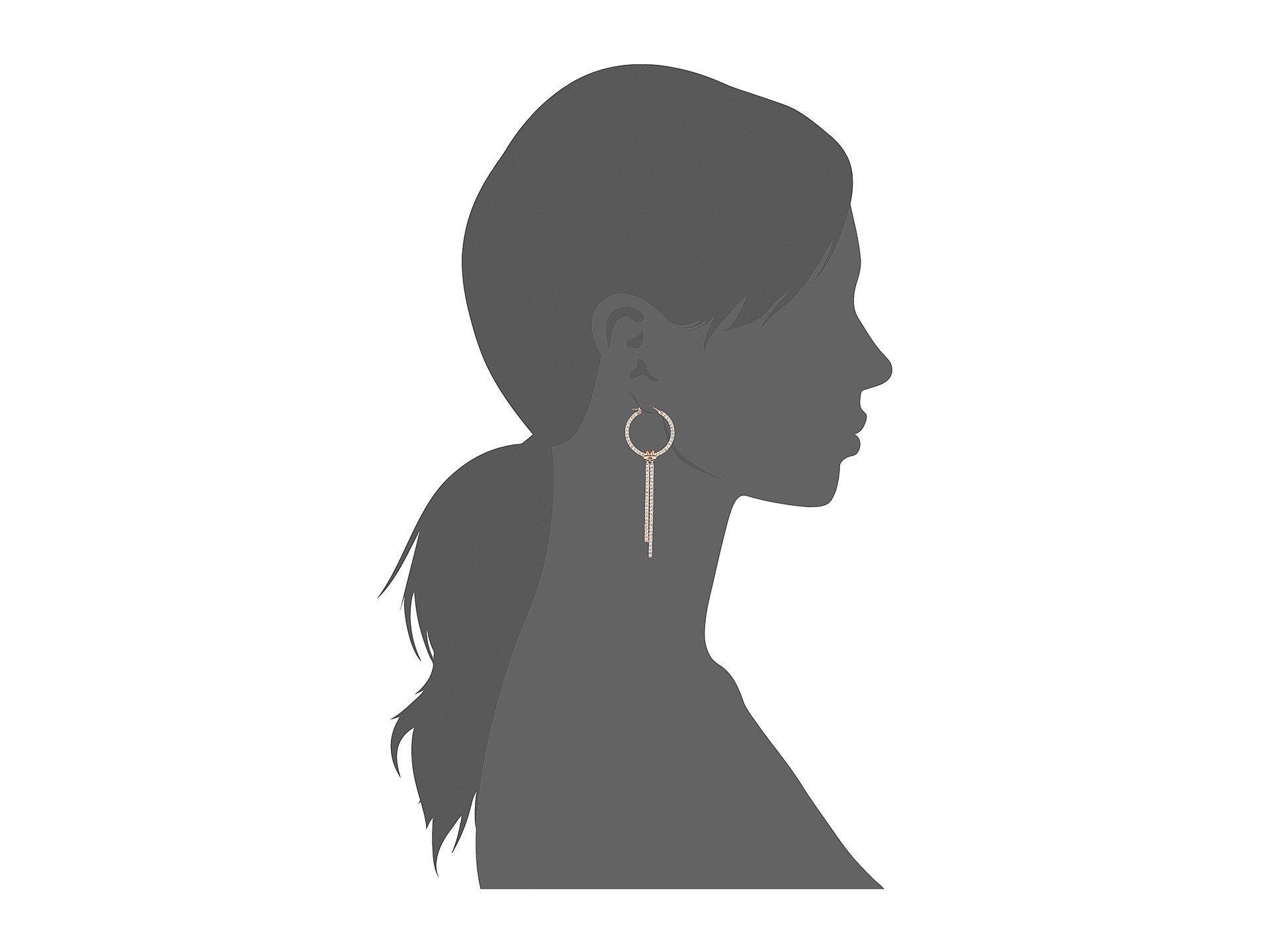8f736f907afbf Women's Lifelong Hoop Pierced Earrings (rose Gold Plating/white) Earring