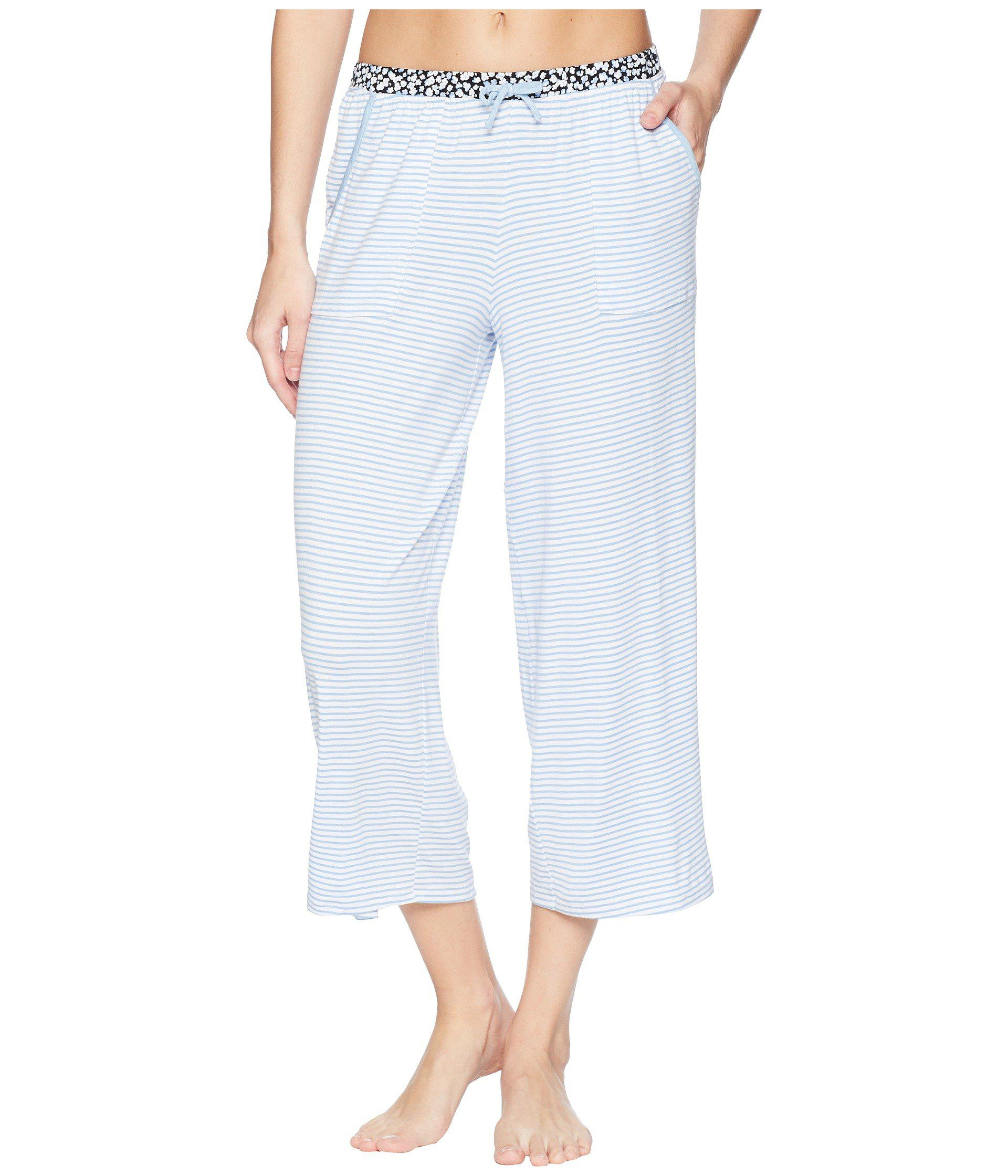 Jockey Womens Double Knit Stripe Jogger Pant Pajama Bottom