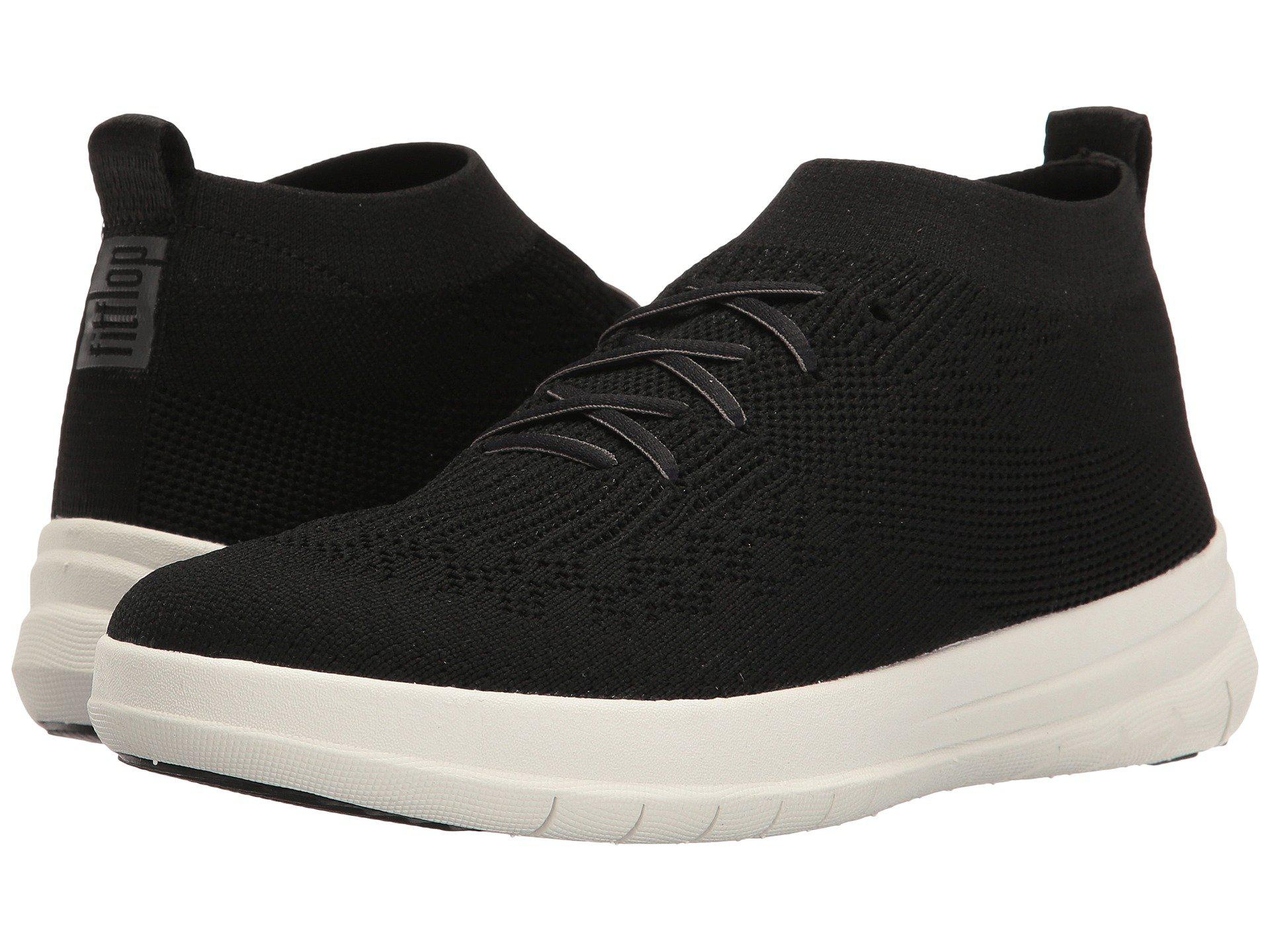 Fitflop Uberknit Slip On High Top Sneaker In Black For Men