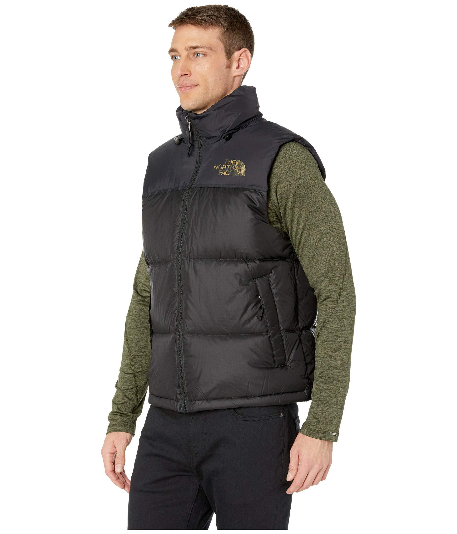 3aefb582f752 Lyst - The North Face 1996 Retro Novelty Nuptse Vest (tnf Black Macrofleck  Print) Men s Vest in Black for Men