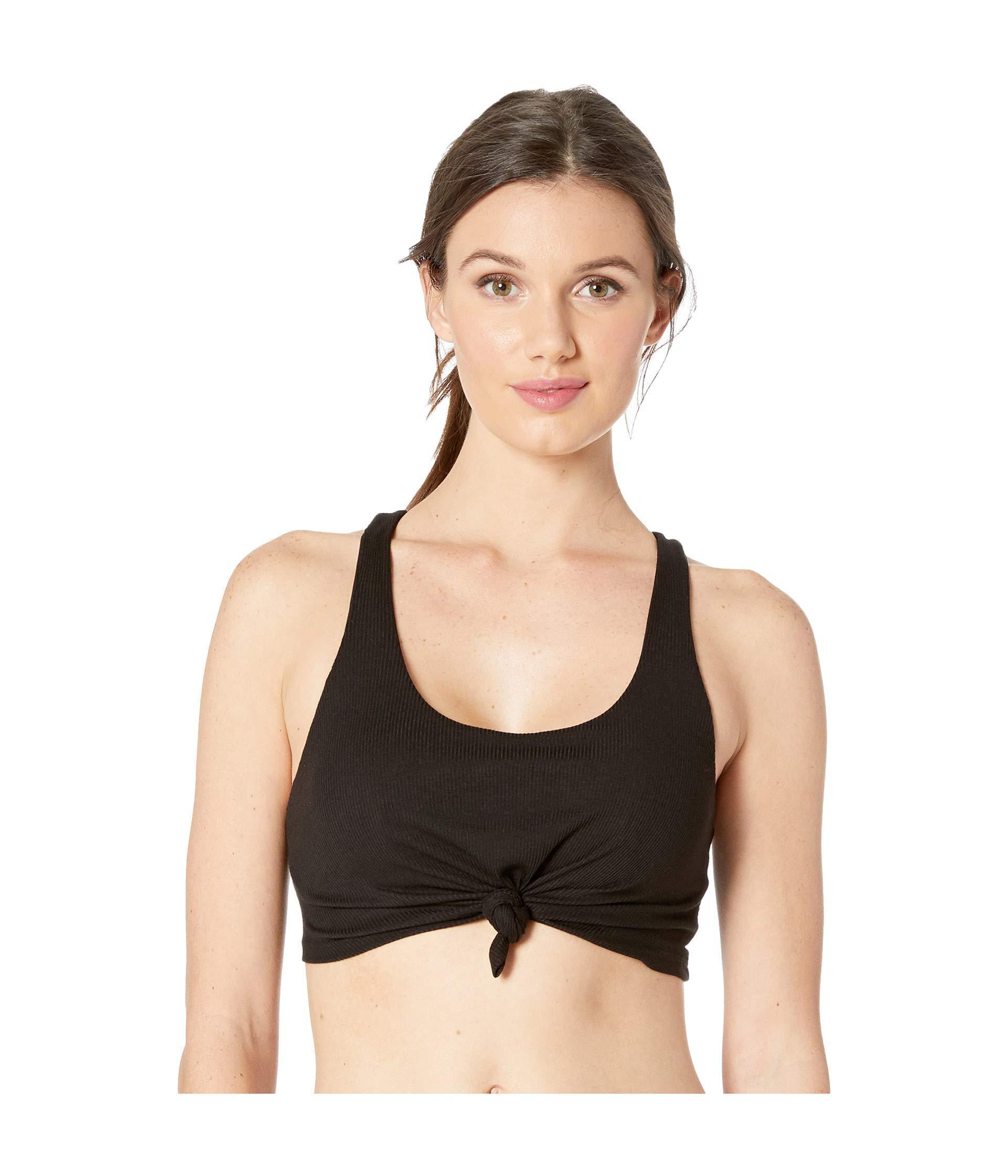 6176f507f0 Lyst - Alo Yoga Knot Tank Bra (white) Women s Bra in Black