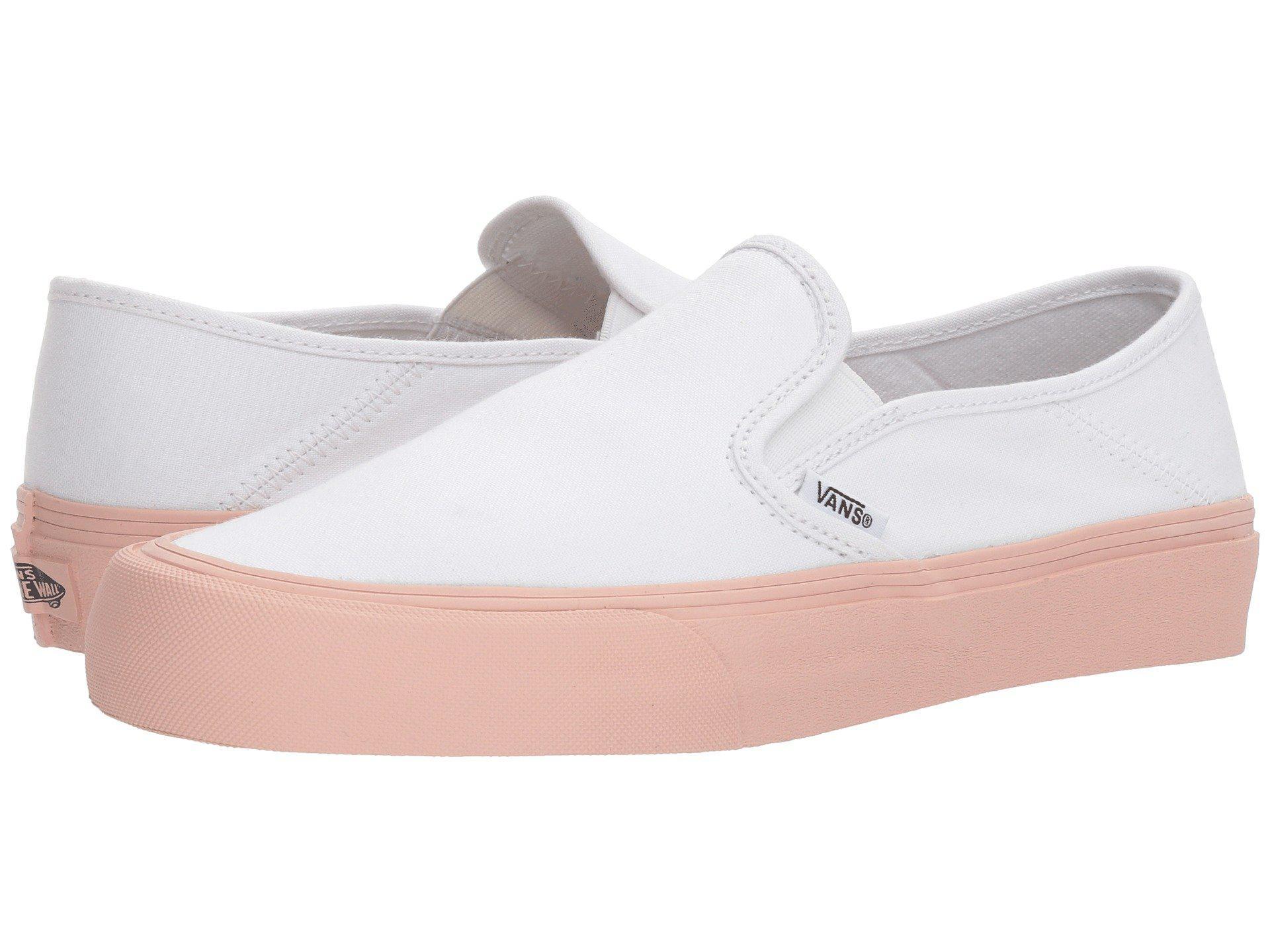 5485c6217c Lyst - Vans Slip-on Sf ((hemp) Leopard  18) Skate Shoes in White