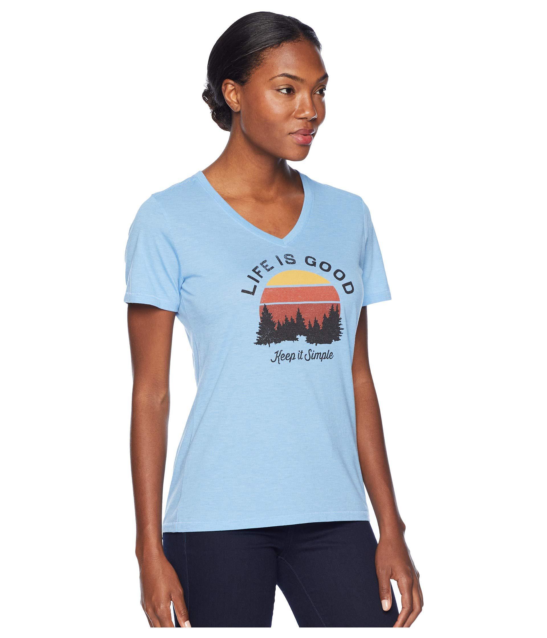 cf3027c25 Women's Keep It Simple Landscape Cool Vee (powder Blue) T Shirt