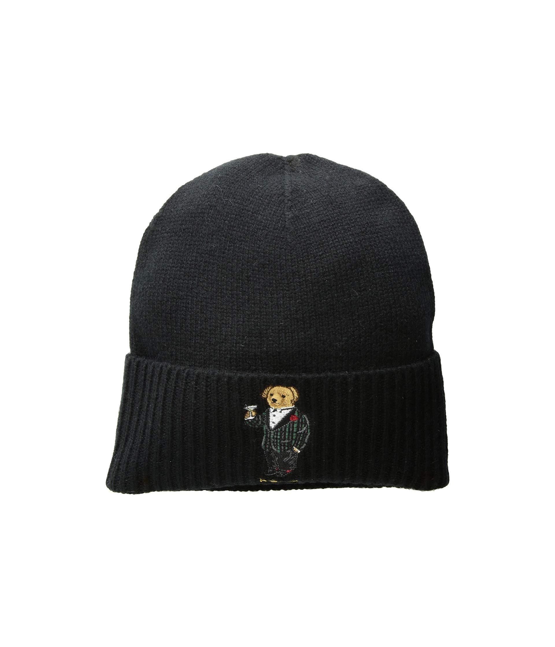 9b7aa9f0 Polo Ralph Lauren Tartan Martini Bear Cuff Hat (black) Beanies for men
