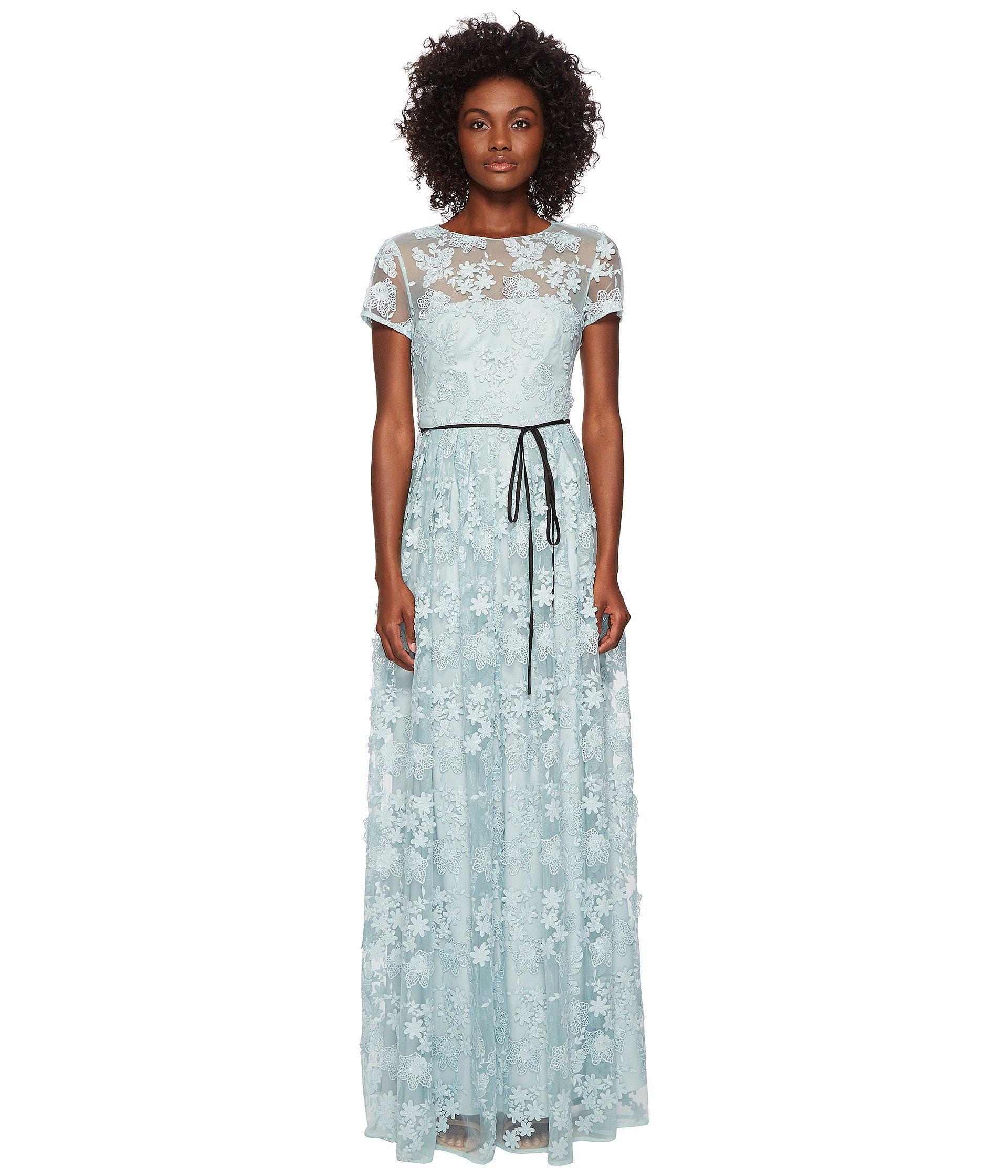 Short Sleeve Long Lace Maxi Dress