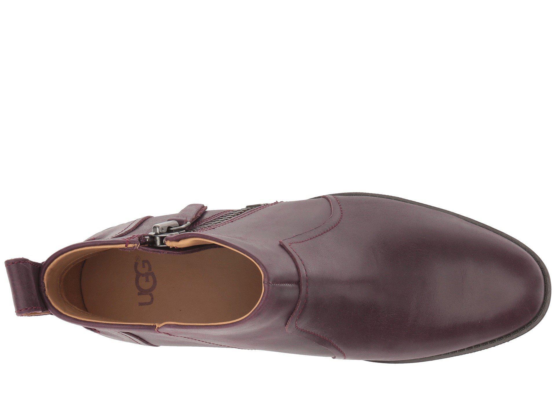 2fb42250435 Ugg Multicolor Aureo Boot (oxblood Leather) Women's Zip Boots