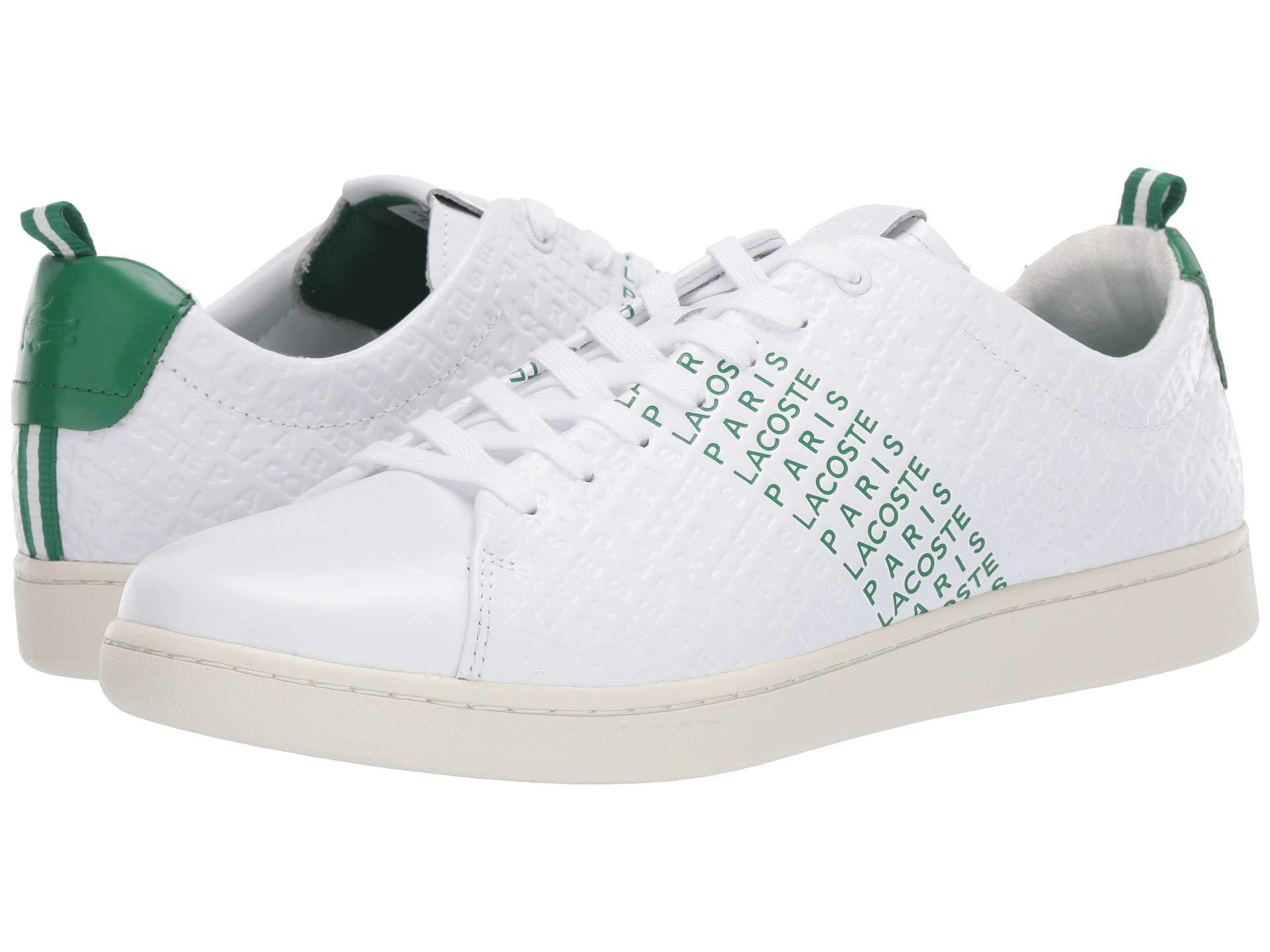 7ded5ef96 Lyst - Lacoste Carnaby Evo 119 9 Mens White   Green Trainers in ...