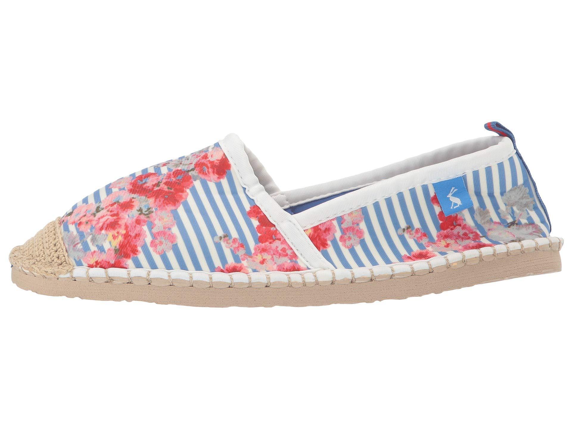 Joules OCEAN FLIPADRILLE Ladies Womens Neoprene Beach Shoes Blue Floral Stripe