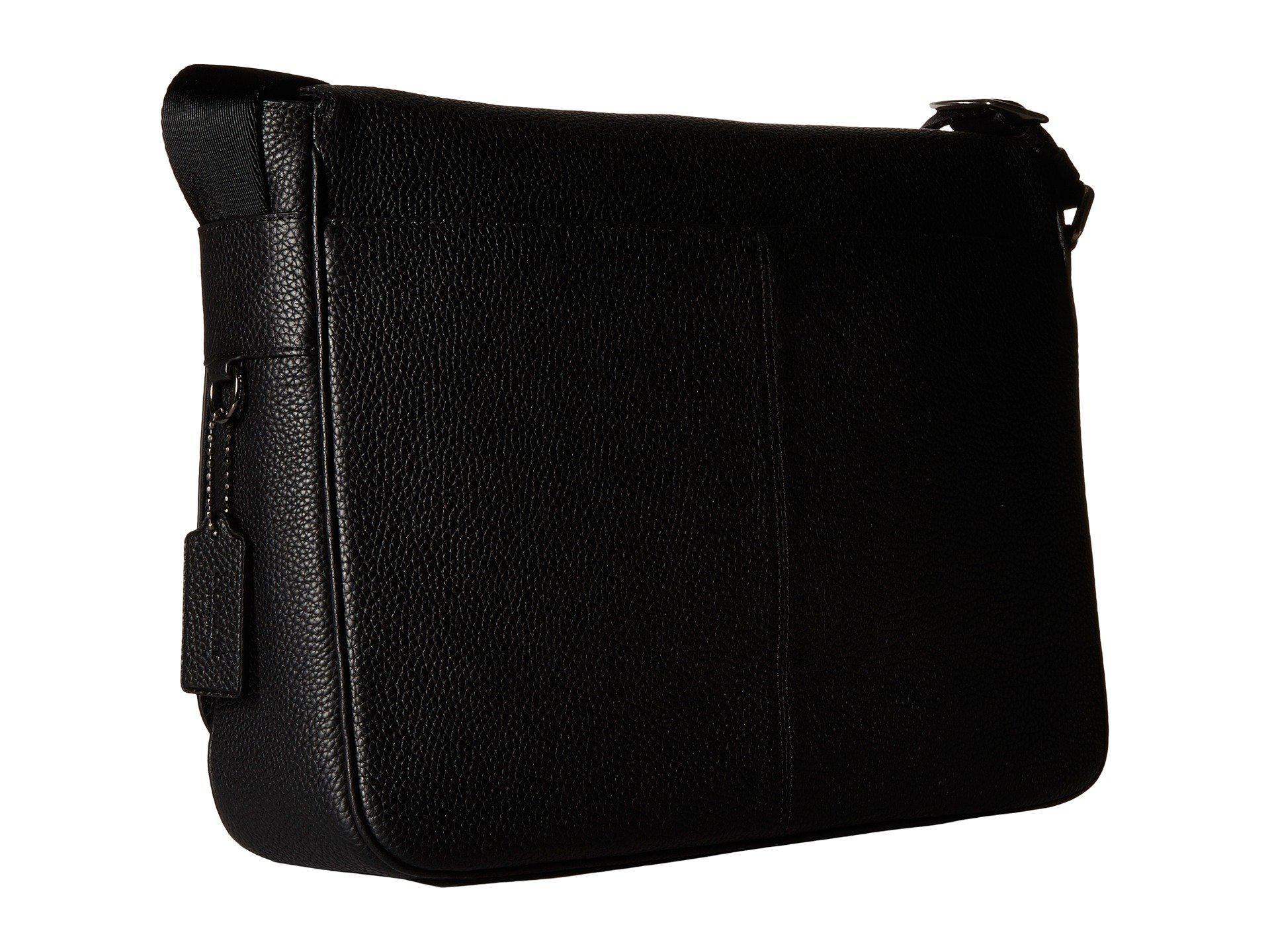 04c6c27b0294 COACH - Pebbled Metropolitan Courier (qb black) Messenger Bags for Men -  Lyst. View fullscreen