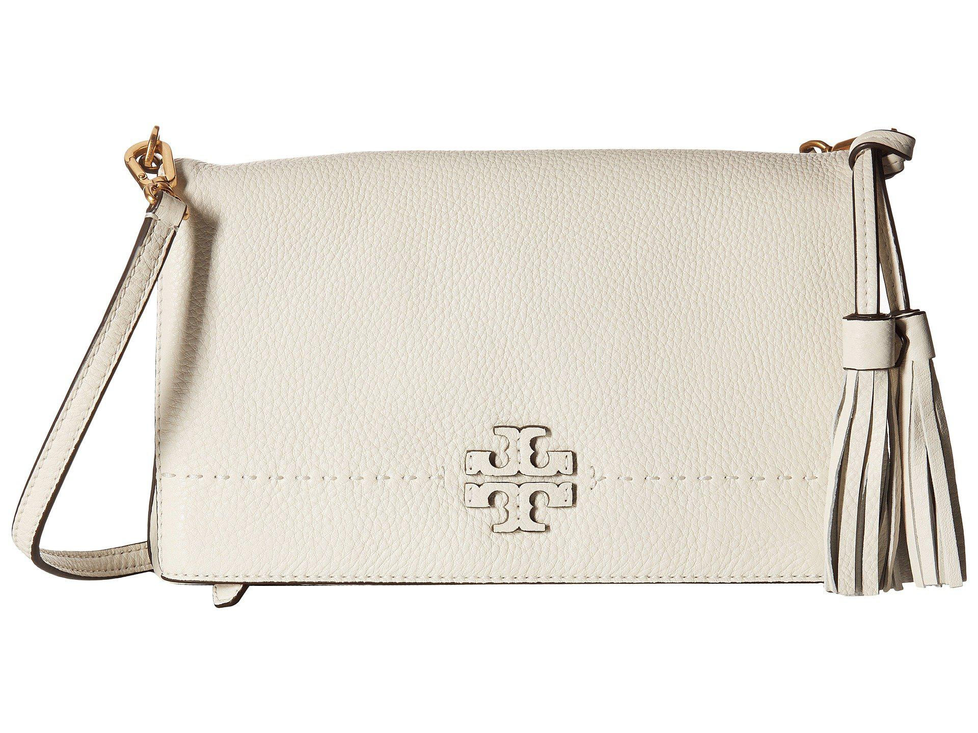 db8fa5a5d3a7a Lyst - Tory Burch Mcgraw Fold-over Crossbody (new Ivory) Cross Body ...