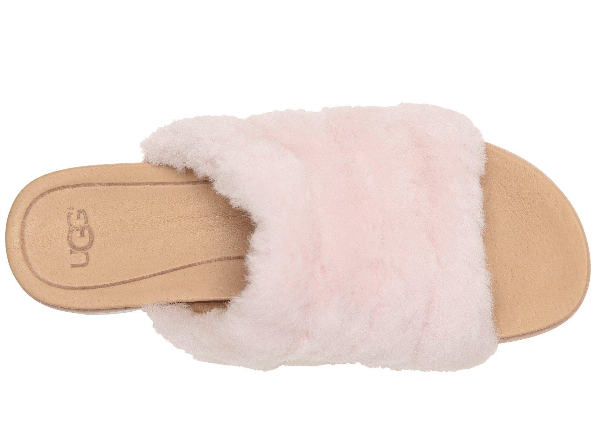 cd5be8c3a6e Ugg - Fluff Yeah Sandal (seashell Pink) Women s Slide Shoes - Lyst. View  fullscreen