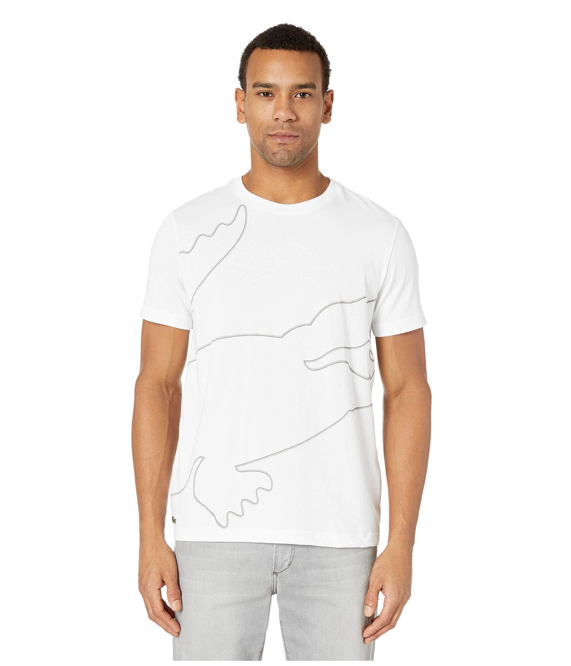 92256f69e106 Lyst - Lacoste Sport Short Sleeve Outlined Big Croc T-shirt in White ...