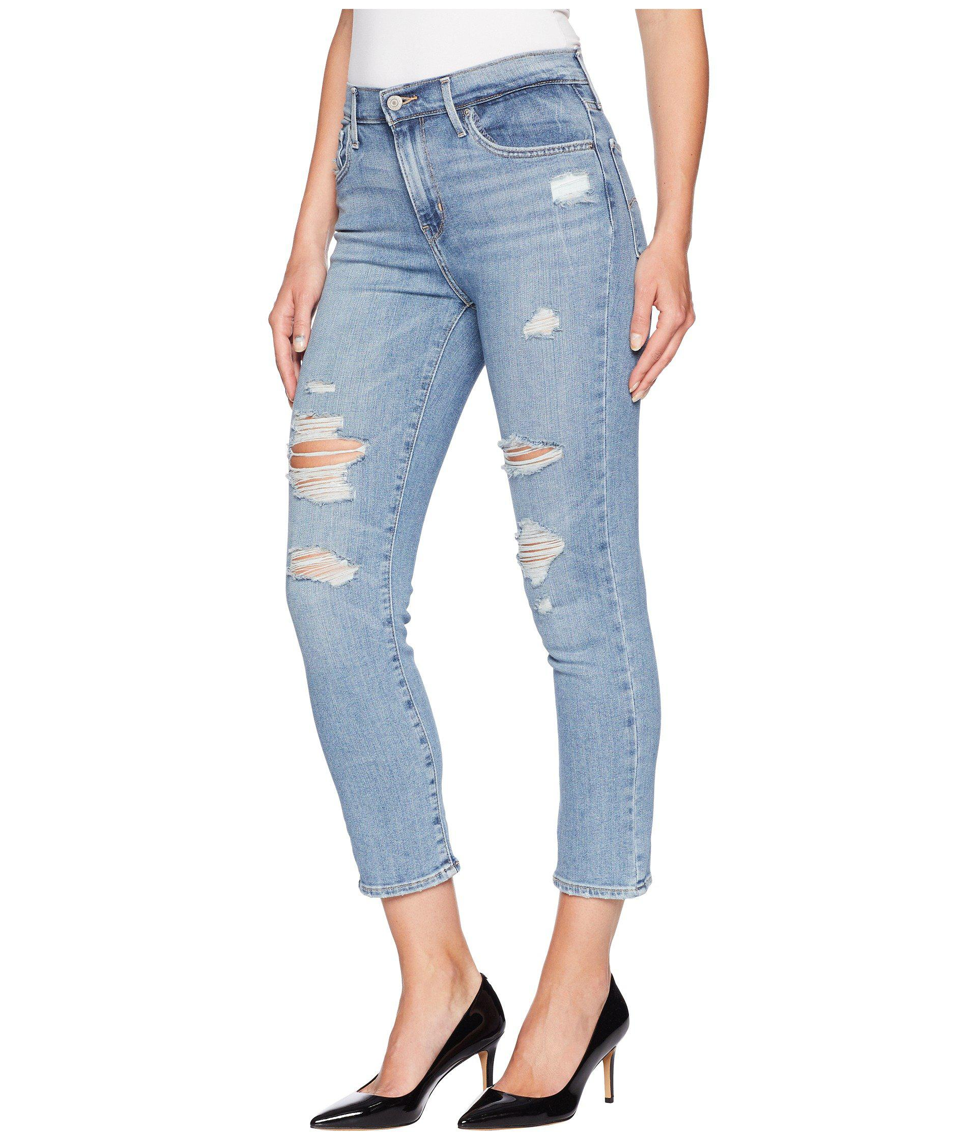 11947ad7 Levi's Levi's(r) 724 High-rise Straight Crop (static Blue) Jeans in ...