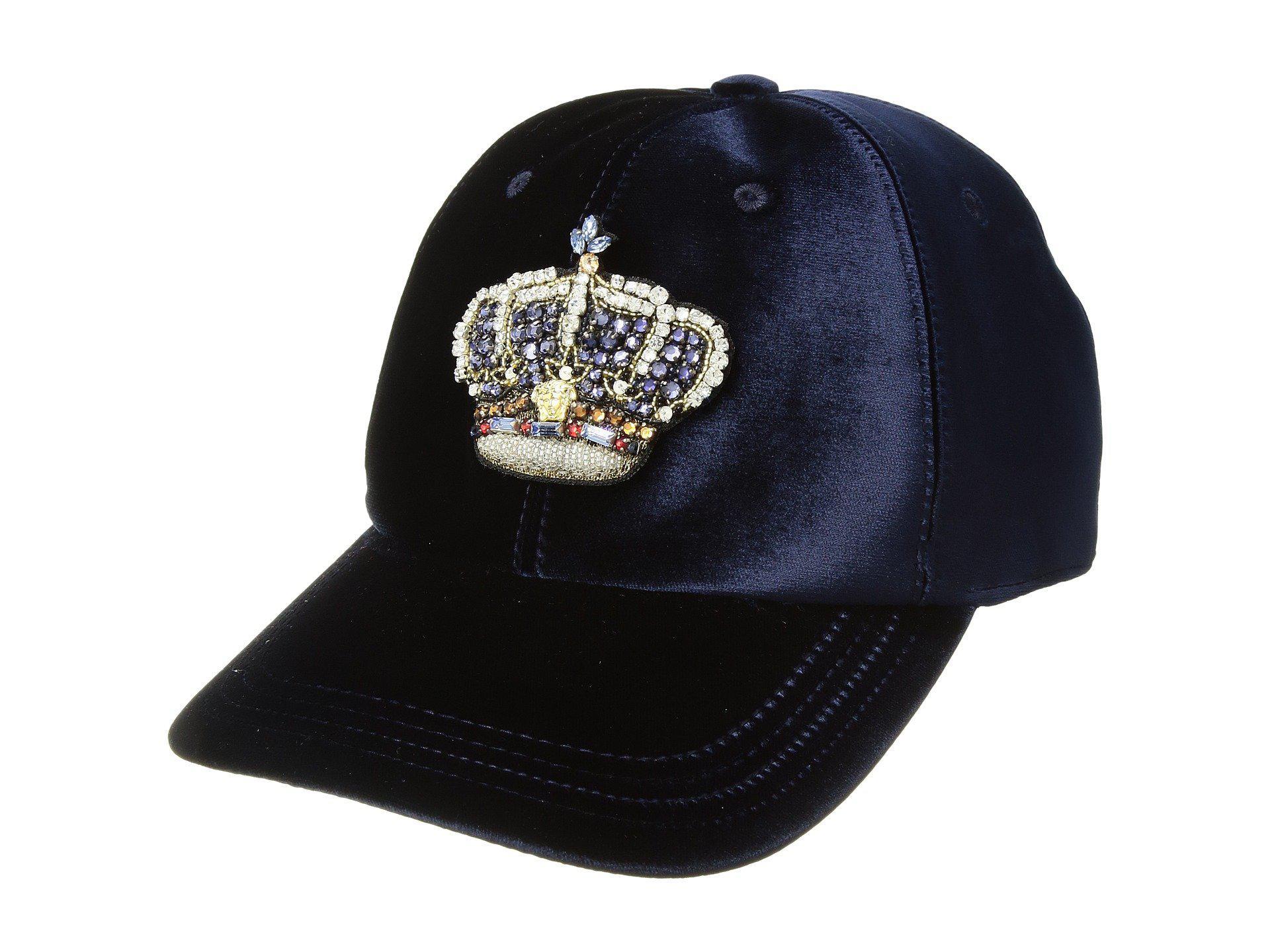 eb998d443f7c9 Versace Velvet Crown Cap in Blue for Men - Lyst