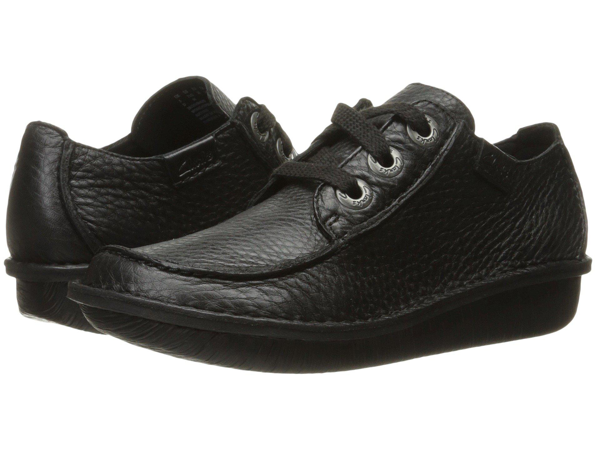 Clarks Womens shoe  Funny Dream Black Leather
