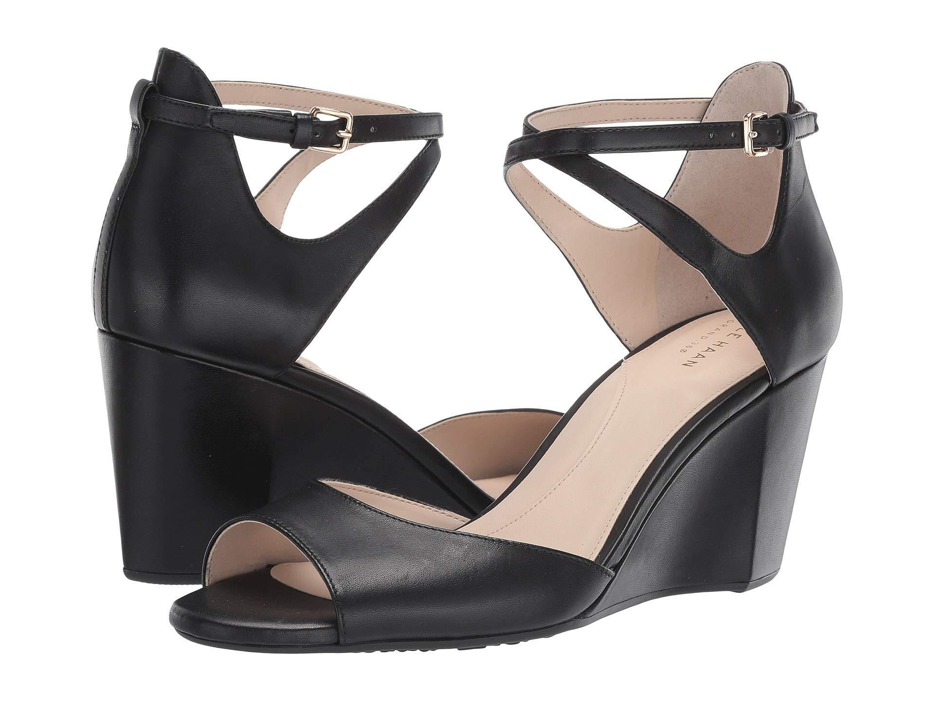 acb74881022 Lyst - Cole Haan 75 Mm Sadie Grand Open Toe Wedge Sandal (mahogany ...